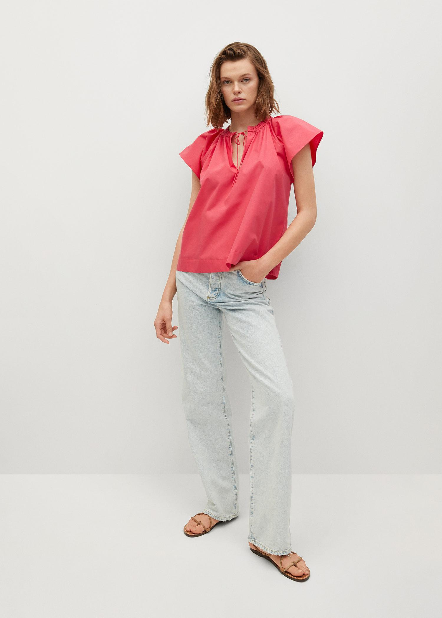 Ruched neck blouse 1