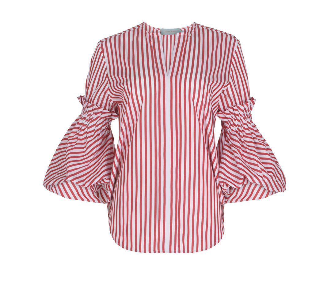Lucaya Blouse Red Stripes