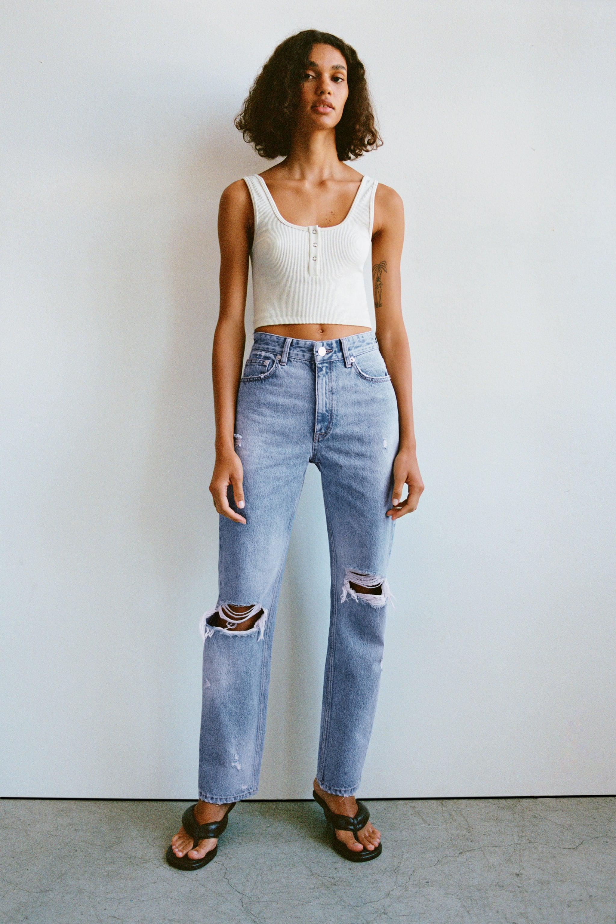 RIPPED STAIN DYE JEANS 1