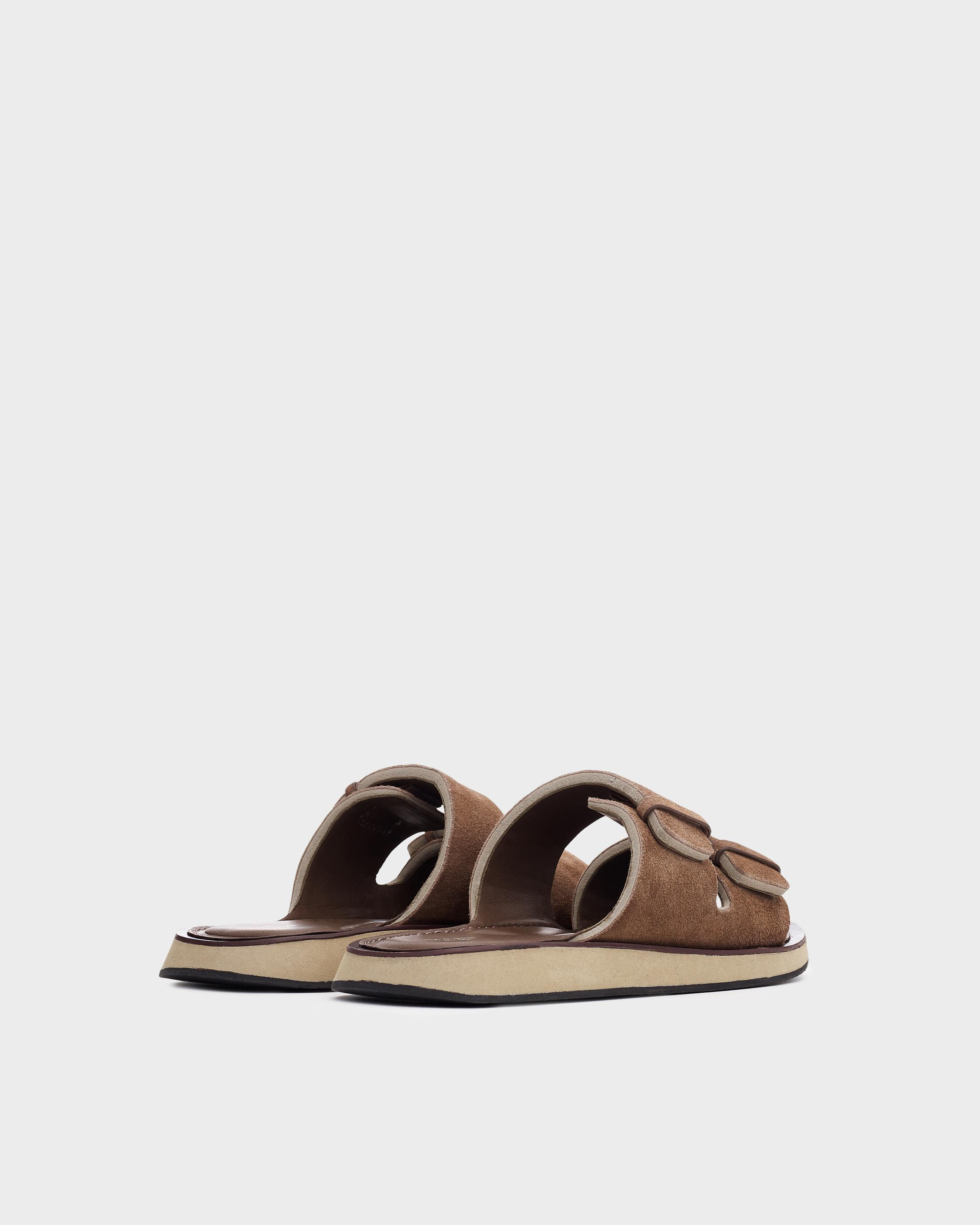 Parker slide - suede and sheep nappa 1