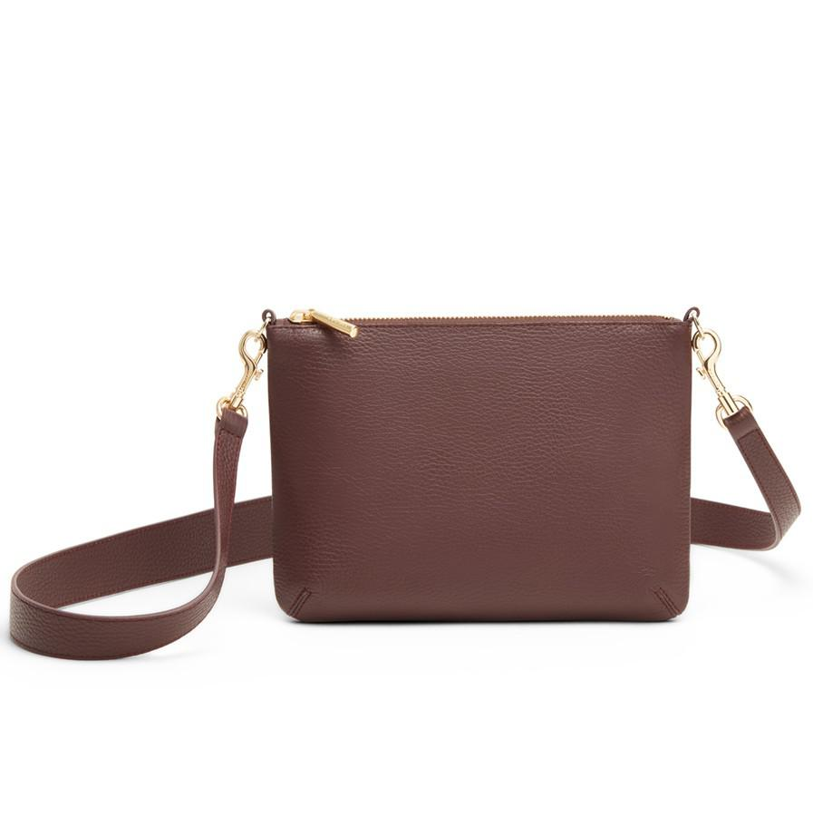 Women's Curved Crossbody Bag in Burgundy | Pebbled Leather by Cuyana