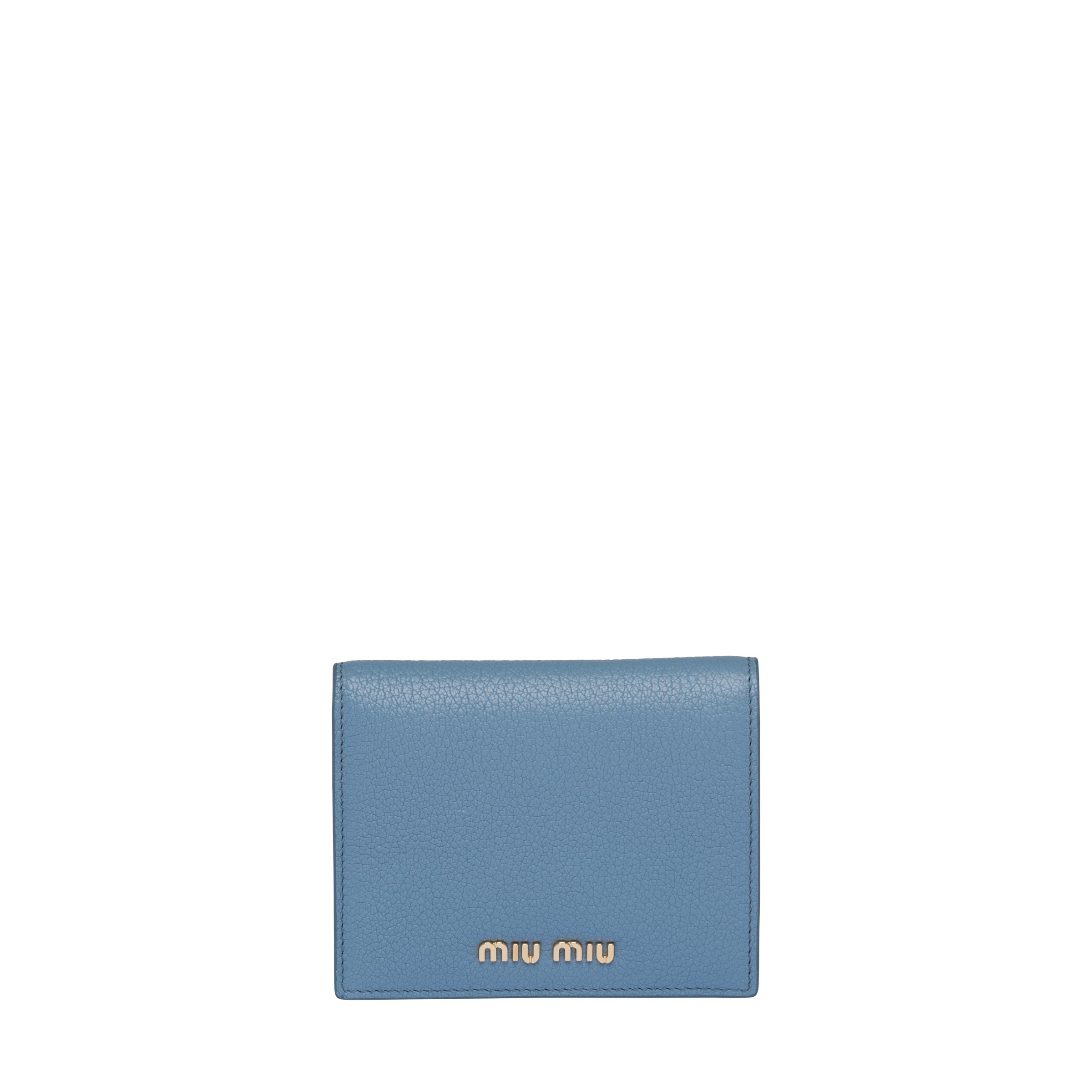 Madras Colour Leather Wallet Women Astral Blue / Ink Blue