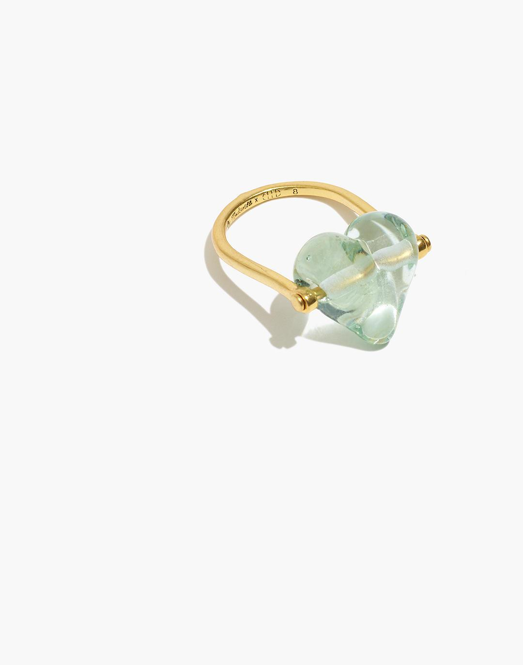 Madewell x CLED® Upcycled Glass Heart Ring