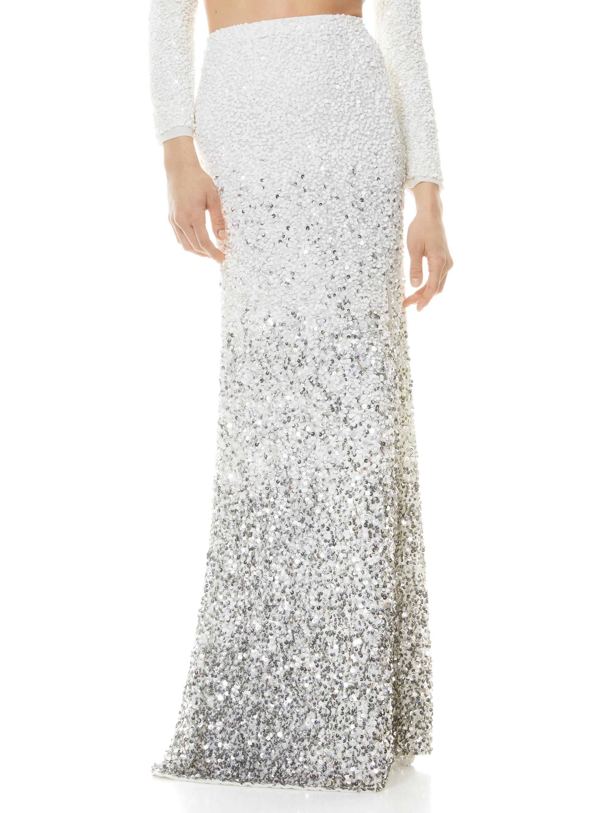 HOUSTON OMBRE SEQUIN GOWN SKIRT