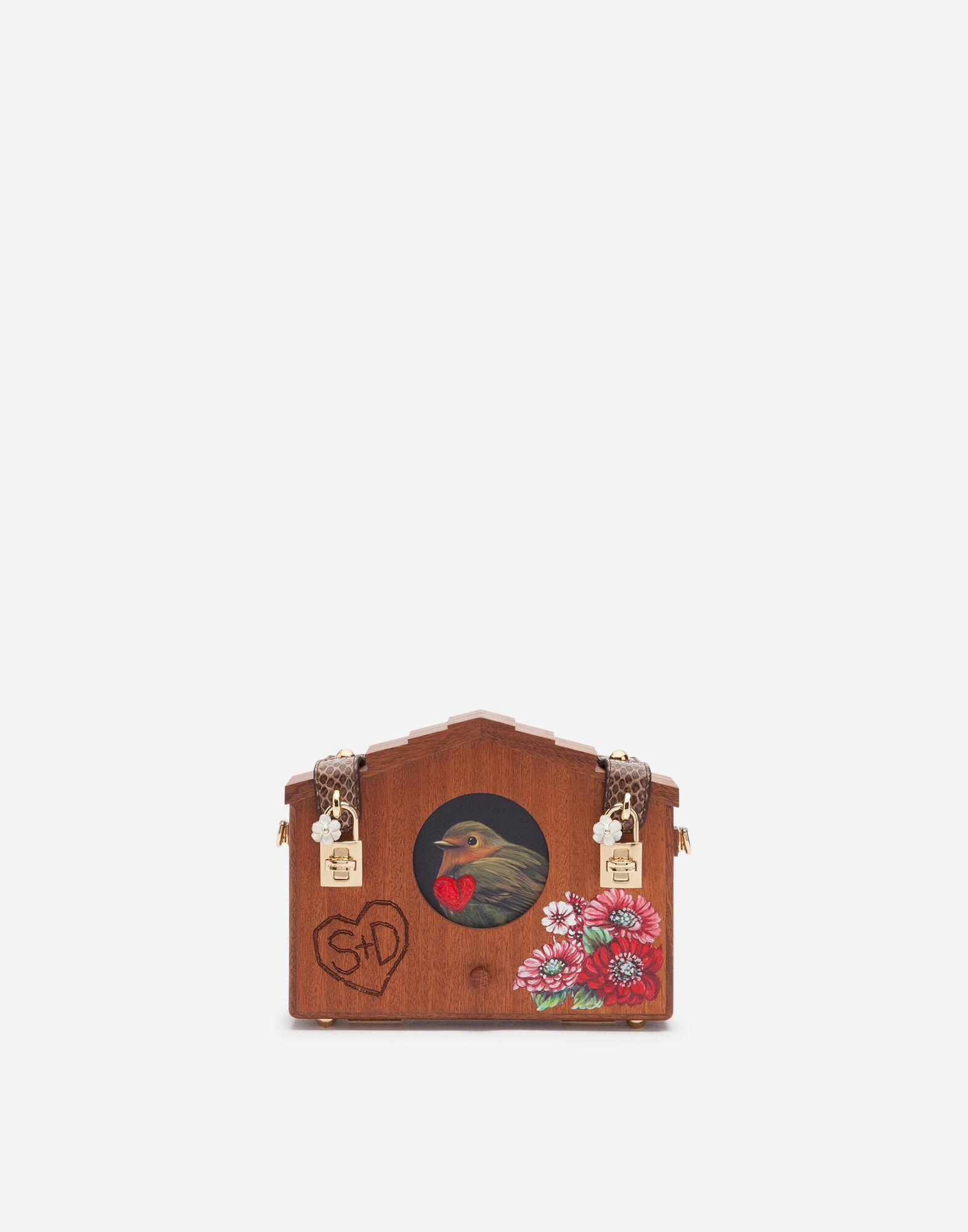 Dolce Box bag in wood and ayers