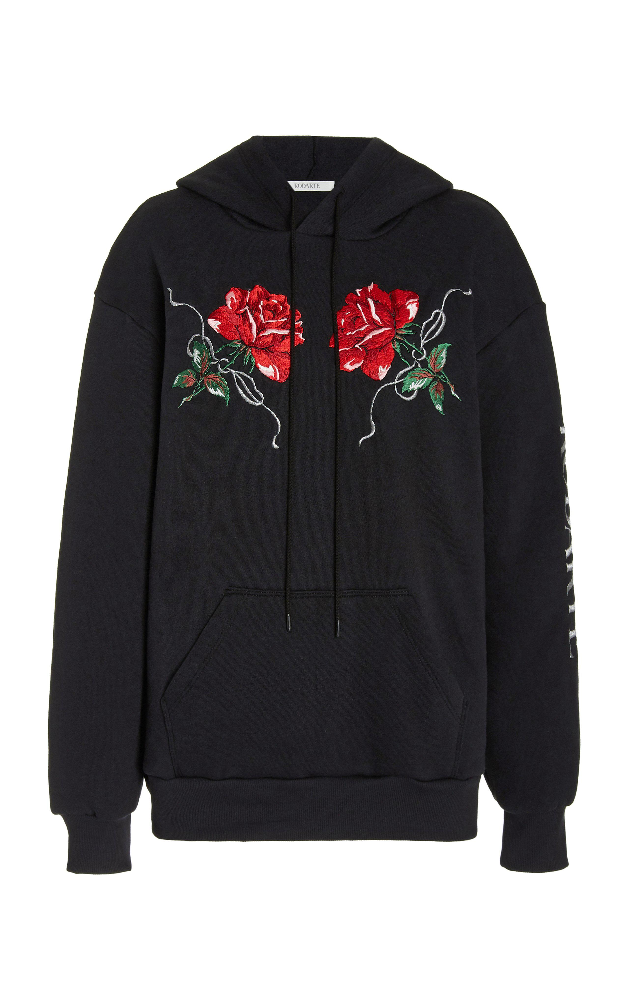 RED ROSE EMBROIDERED HOODIE 3