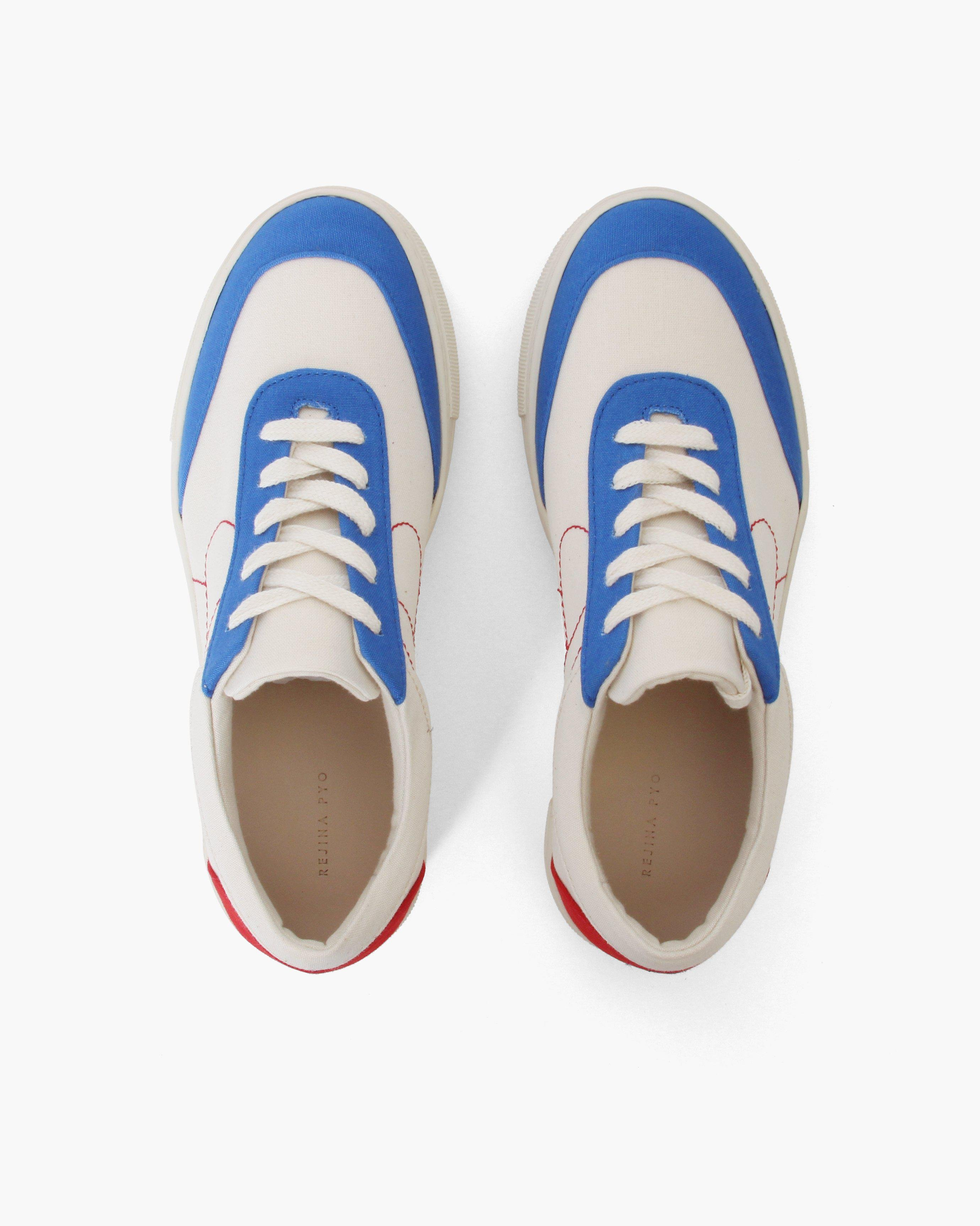 Bailey Sneakers Cotton Canvas Blue + Red - SALE 3