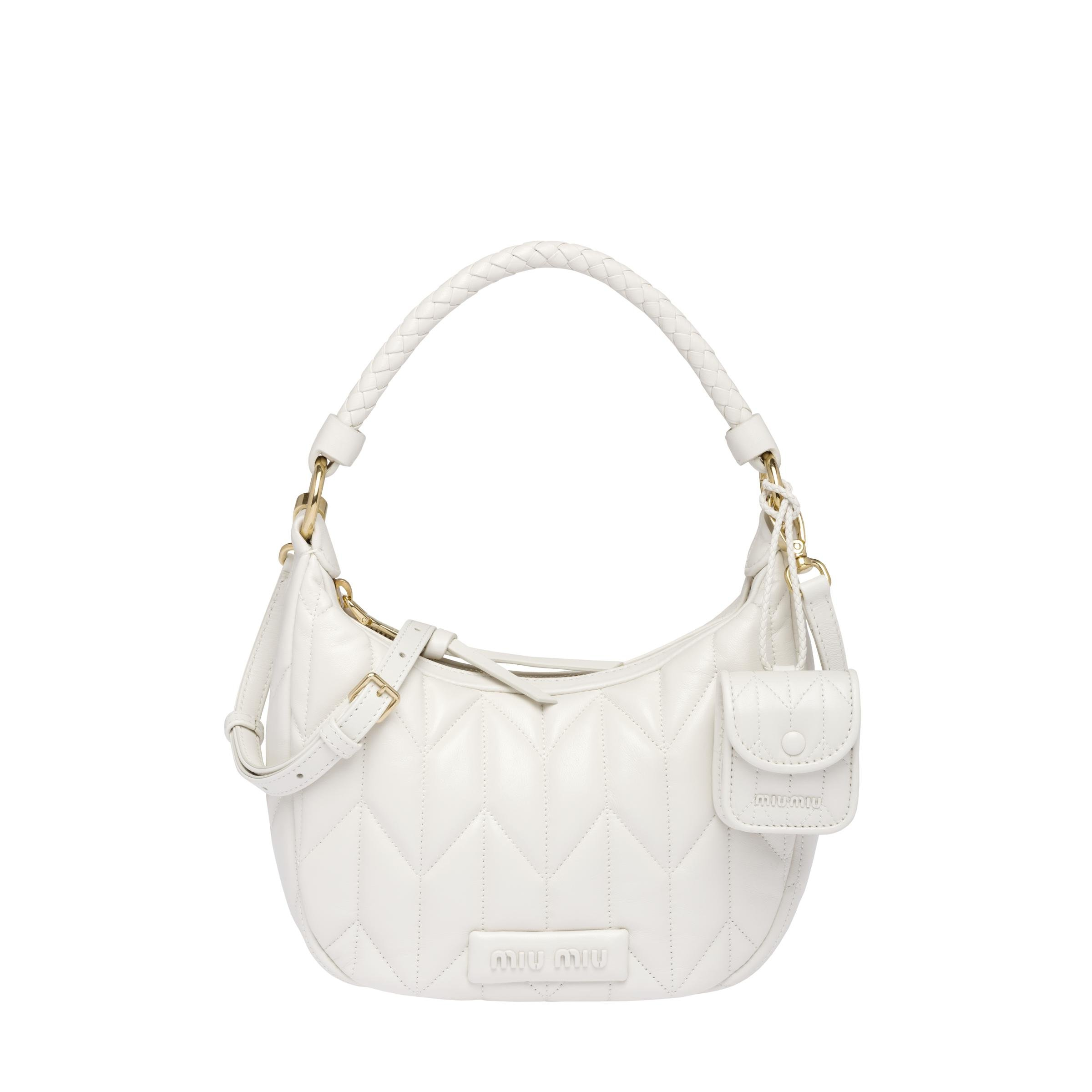 Quilted Nappa Leather Handbag Women White