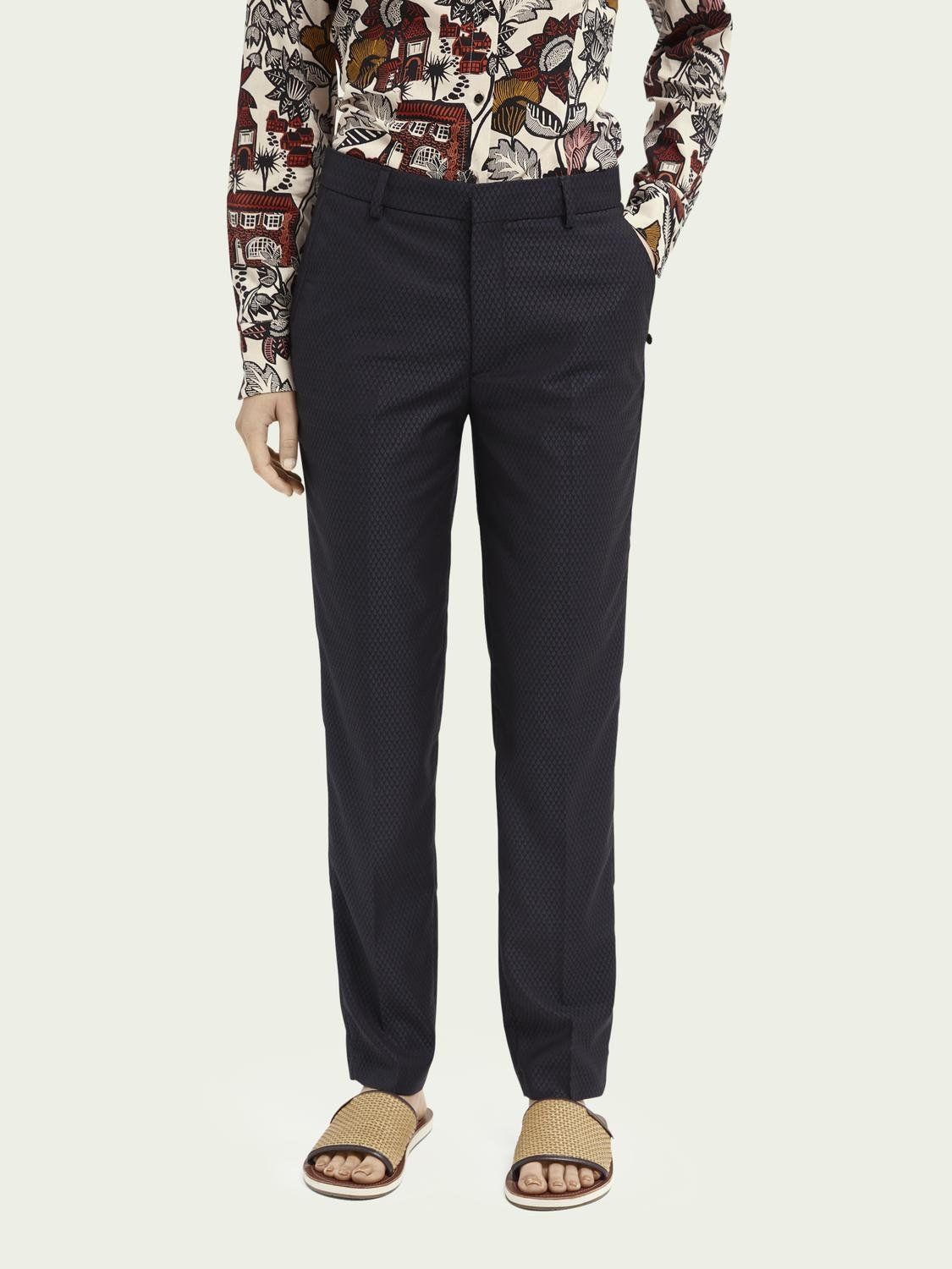 Lowry tailored slim-fit trousers ─ Night