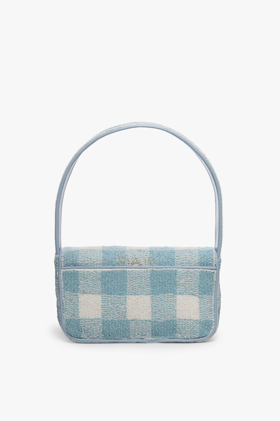 TOMMY BEADED BAG   ARCTIC BLUE WHITE 4