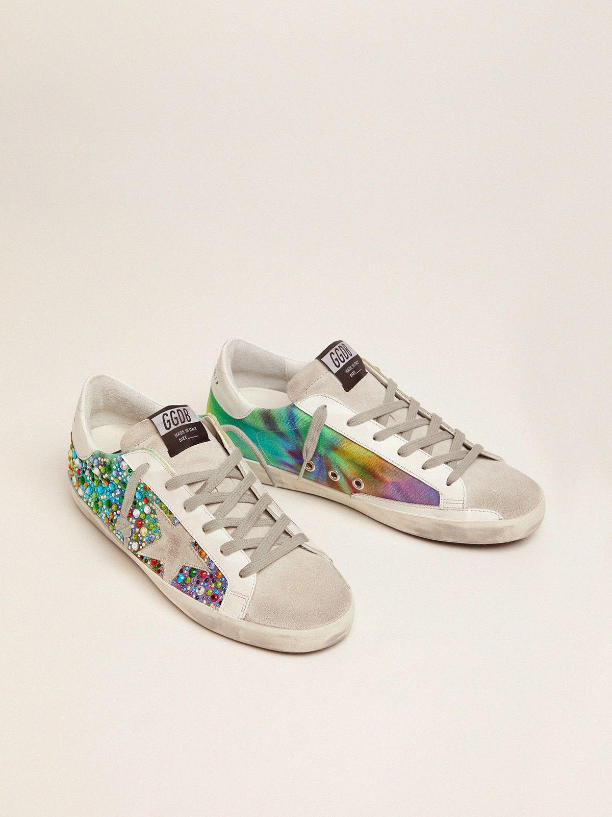 Super-Star sneakers with rainbow crystals 1