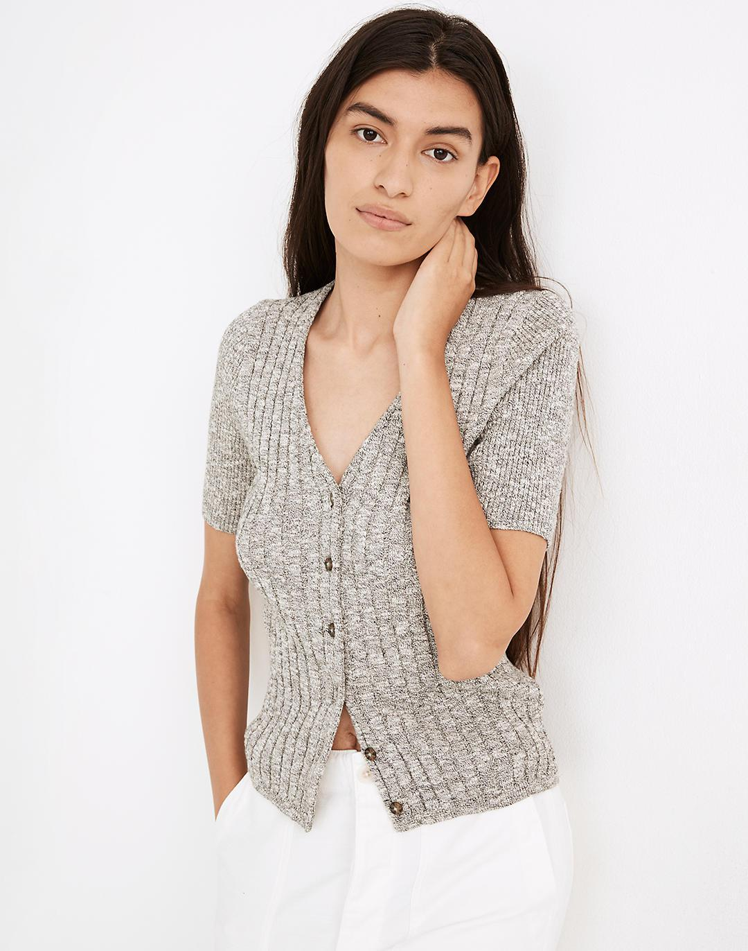 Glencrest Button-Front Sweater Tee