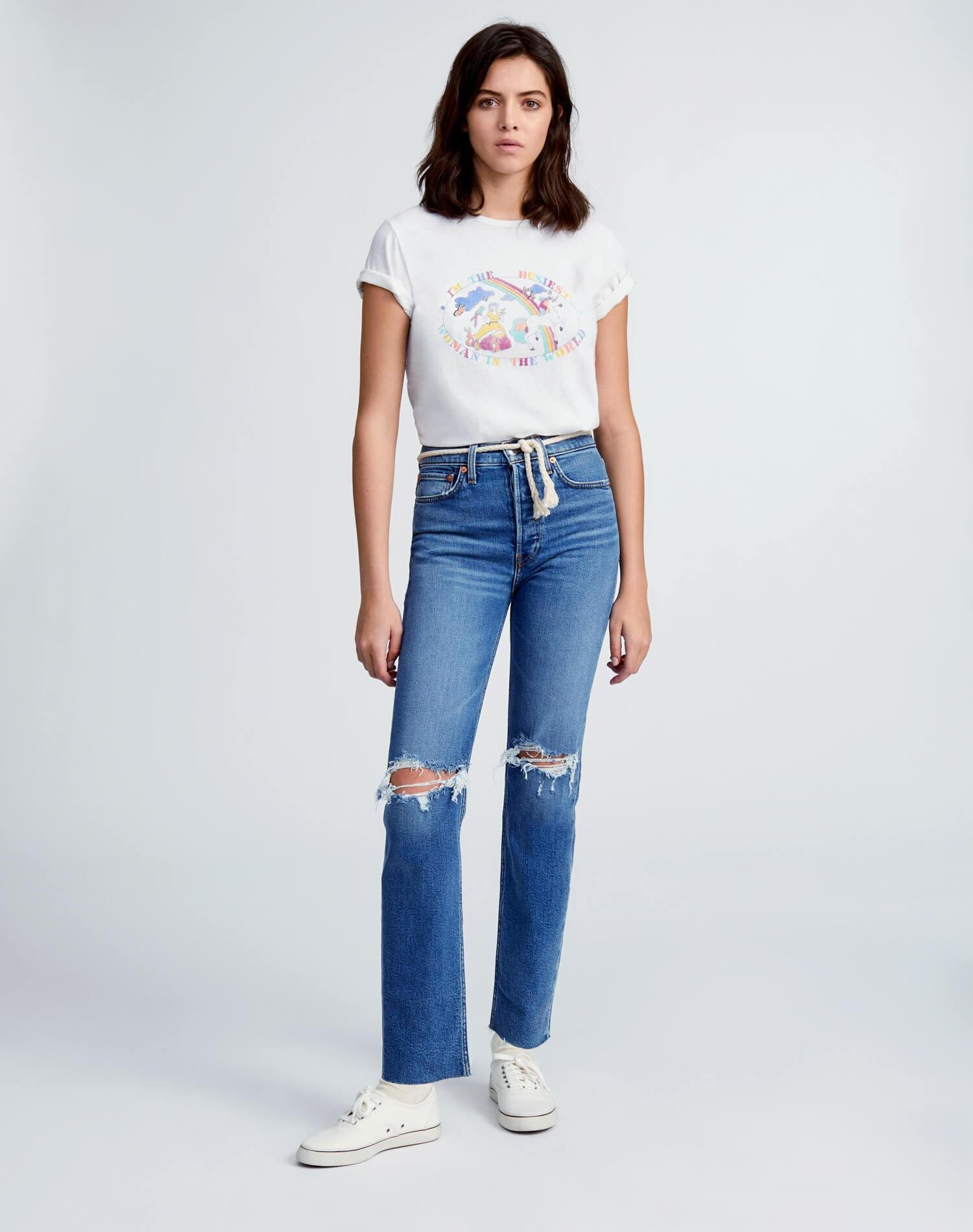 """Classic """"Busiest Woman"""" Tee - Vintage White 1"""