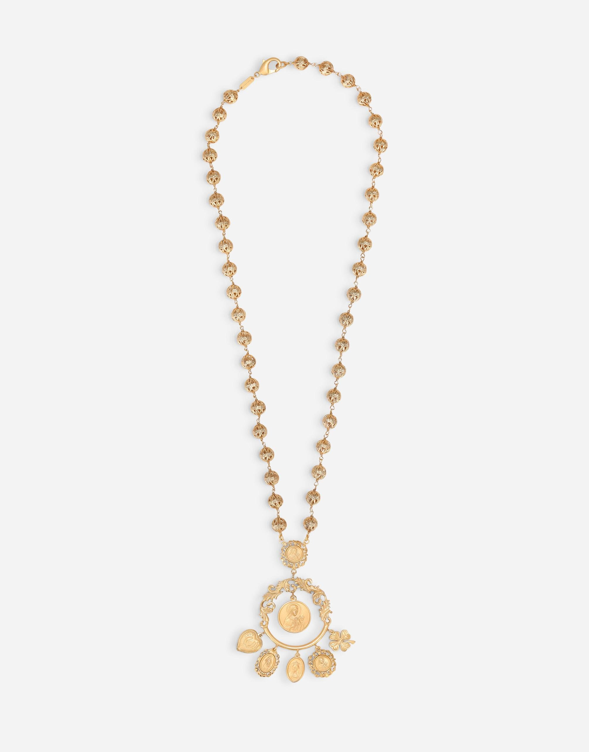 Long necklace with decorative details