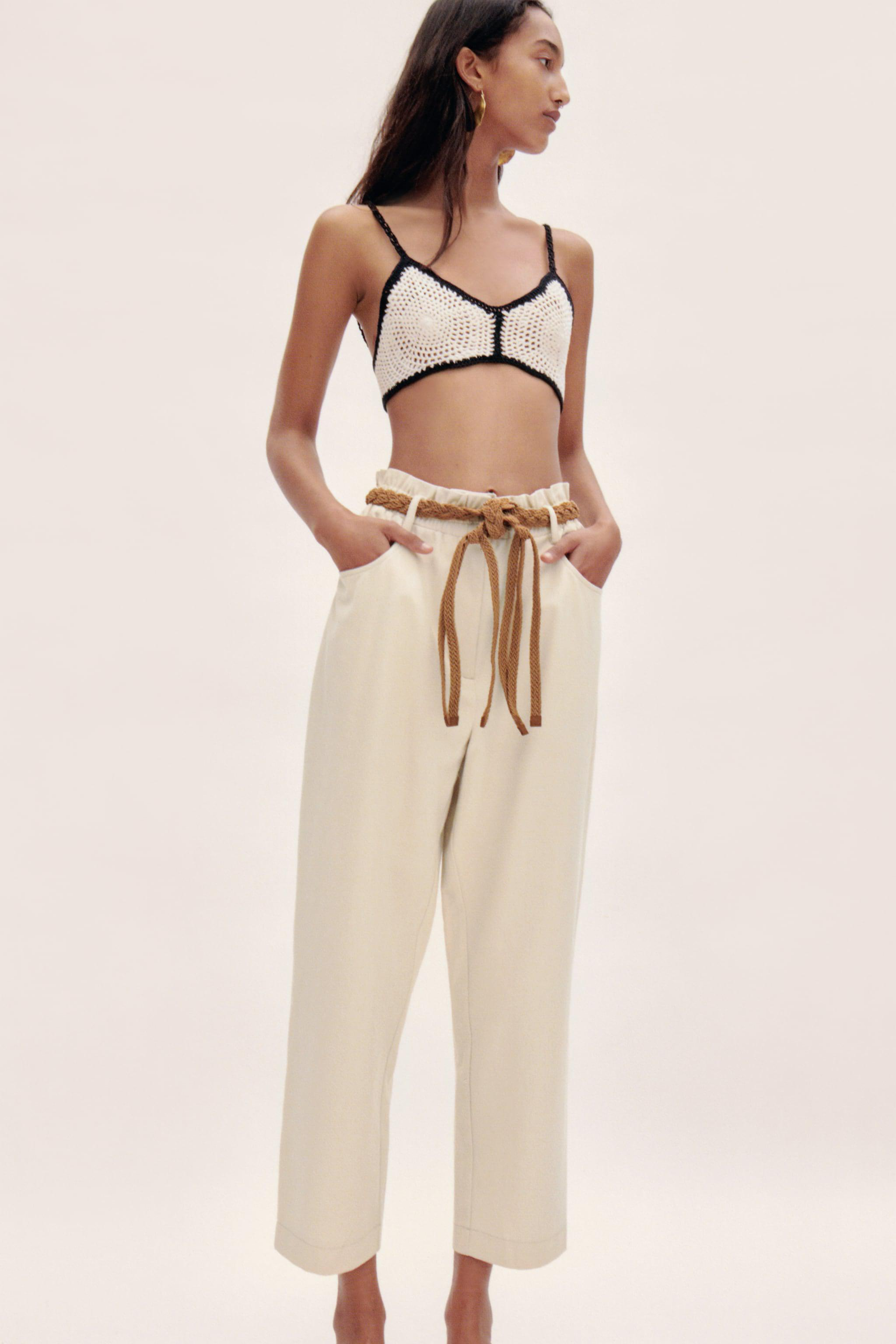 PANTS WITH BRAIDED BELT