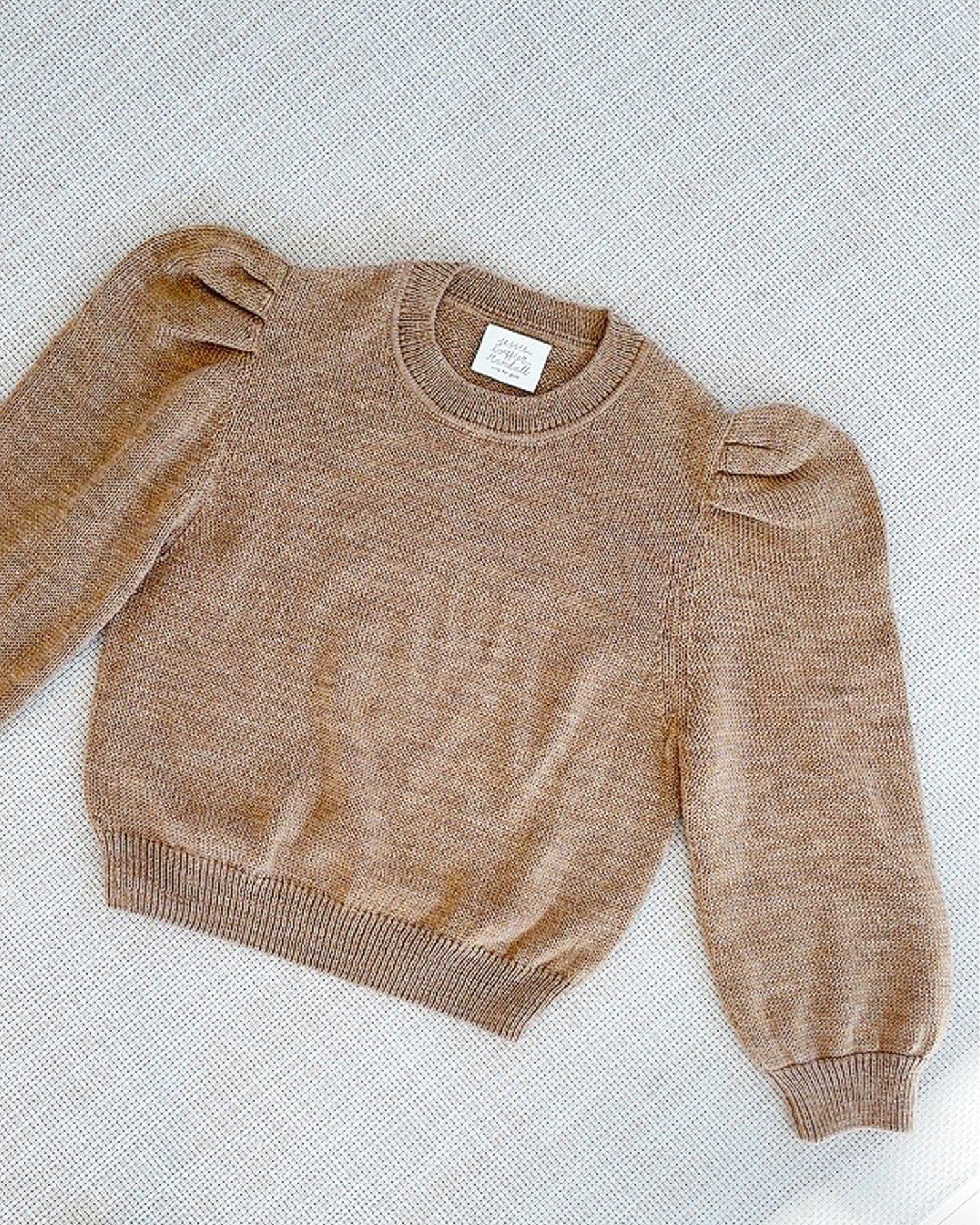 Knits for Good Camel Sweater 1