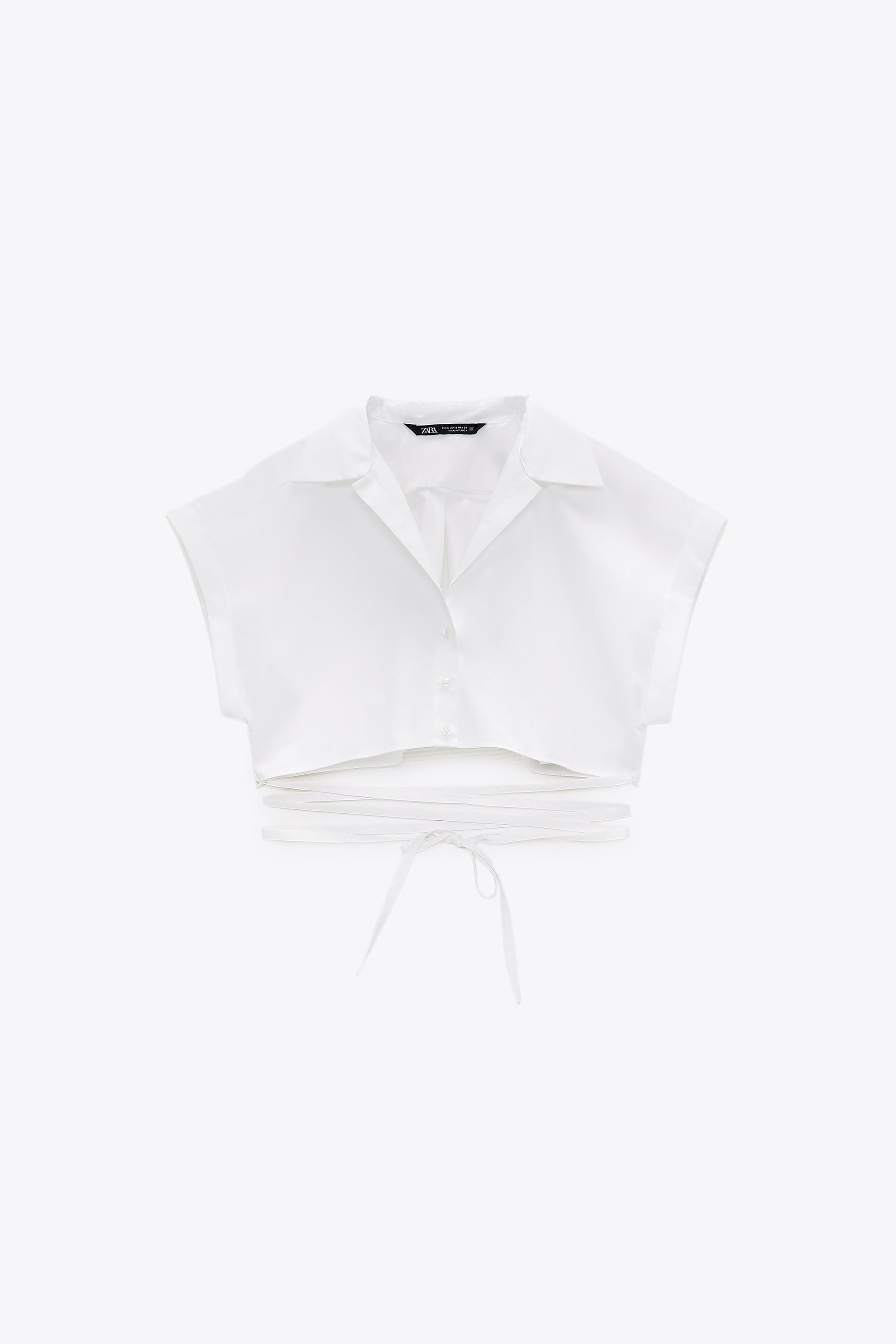 TIED CROPPED SHIRT 4