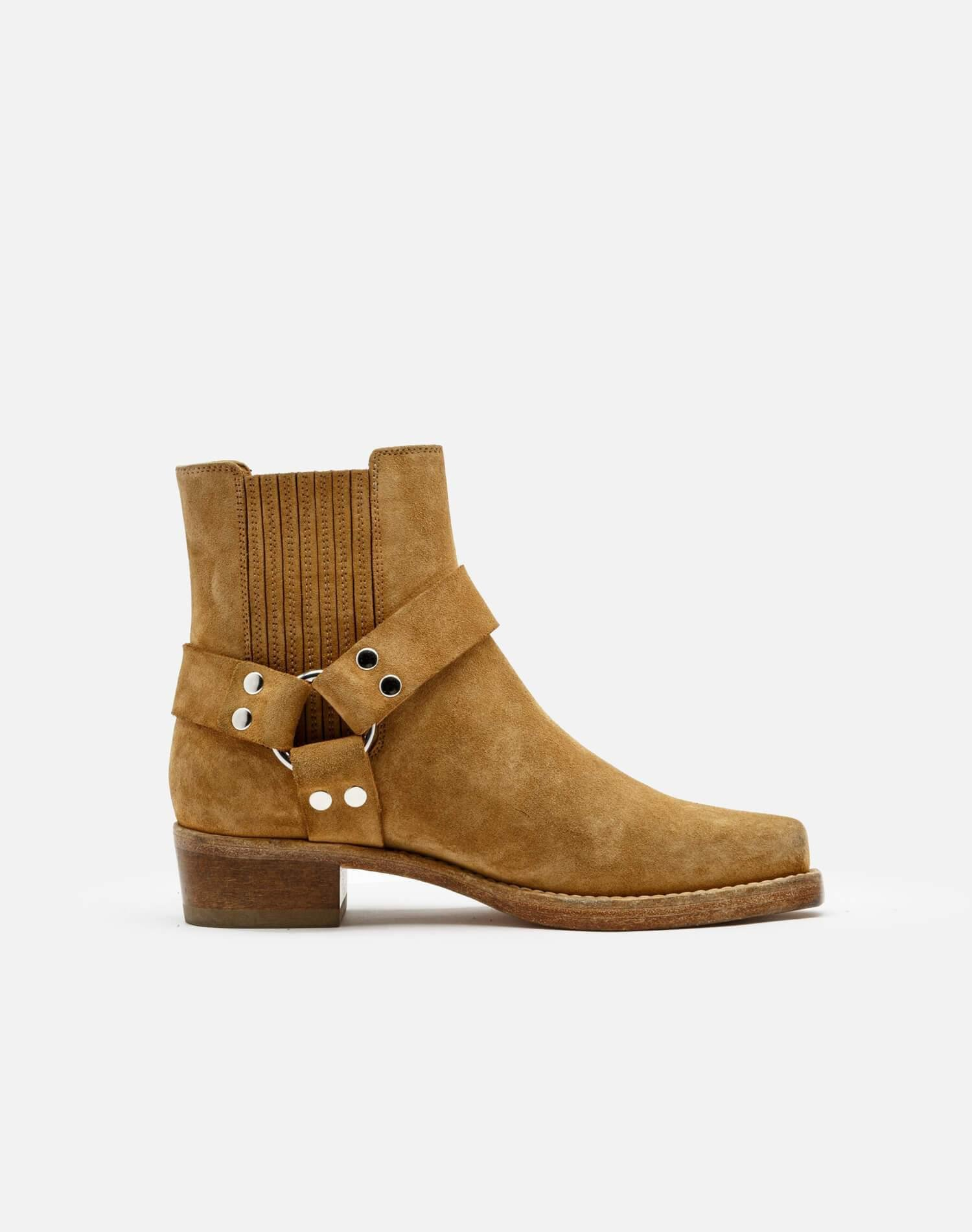 Cavalry Boot - Caramel Suede