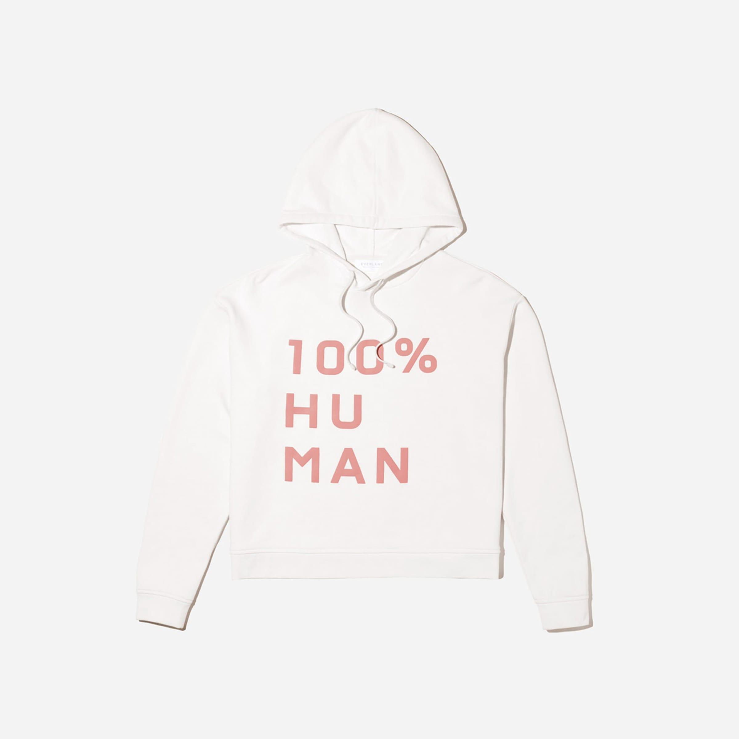 The 100% Human Typography Hoodie 2