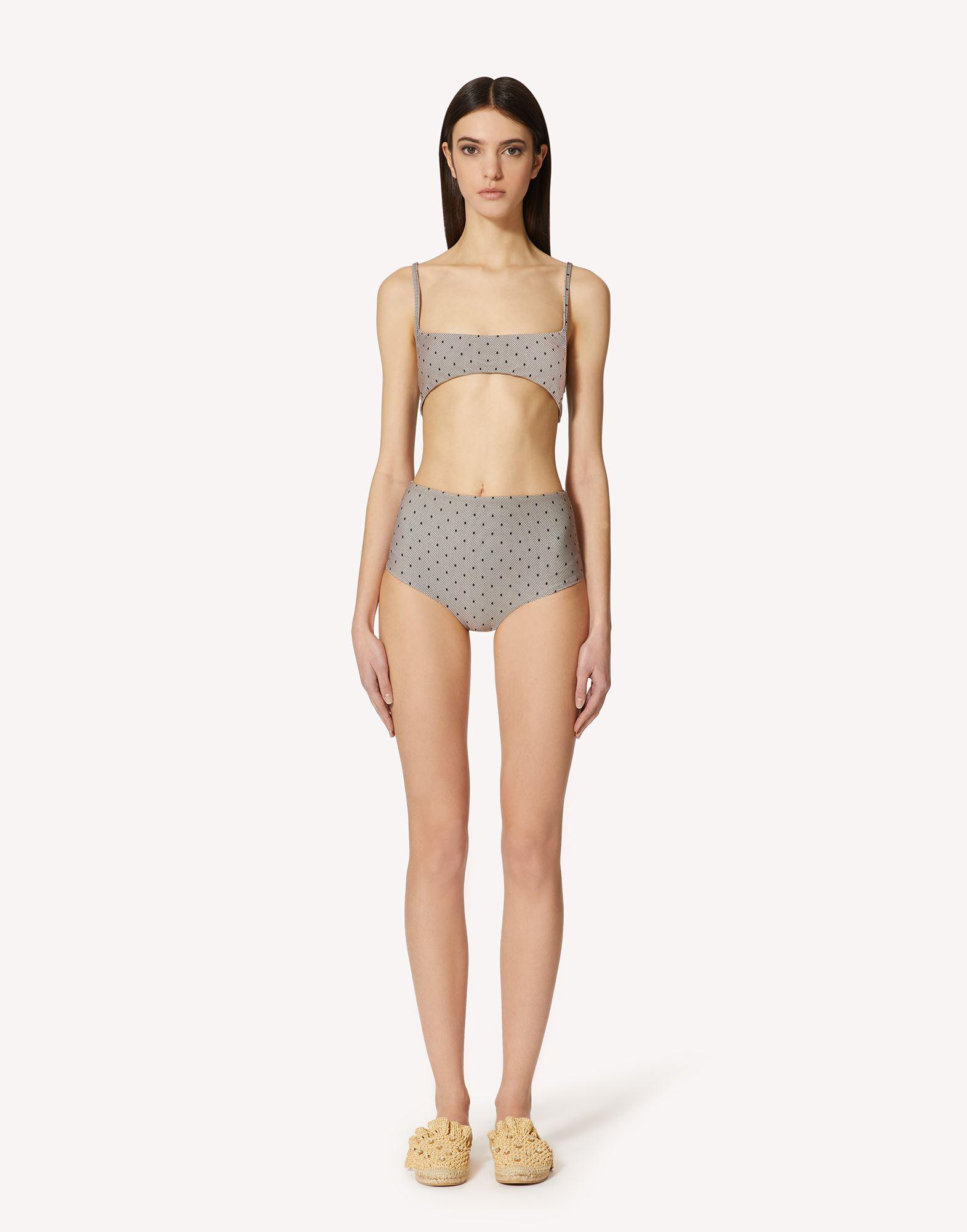 POINT D'ESPRIT TULLE PRINTED SWIMSUIT