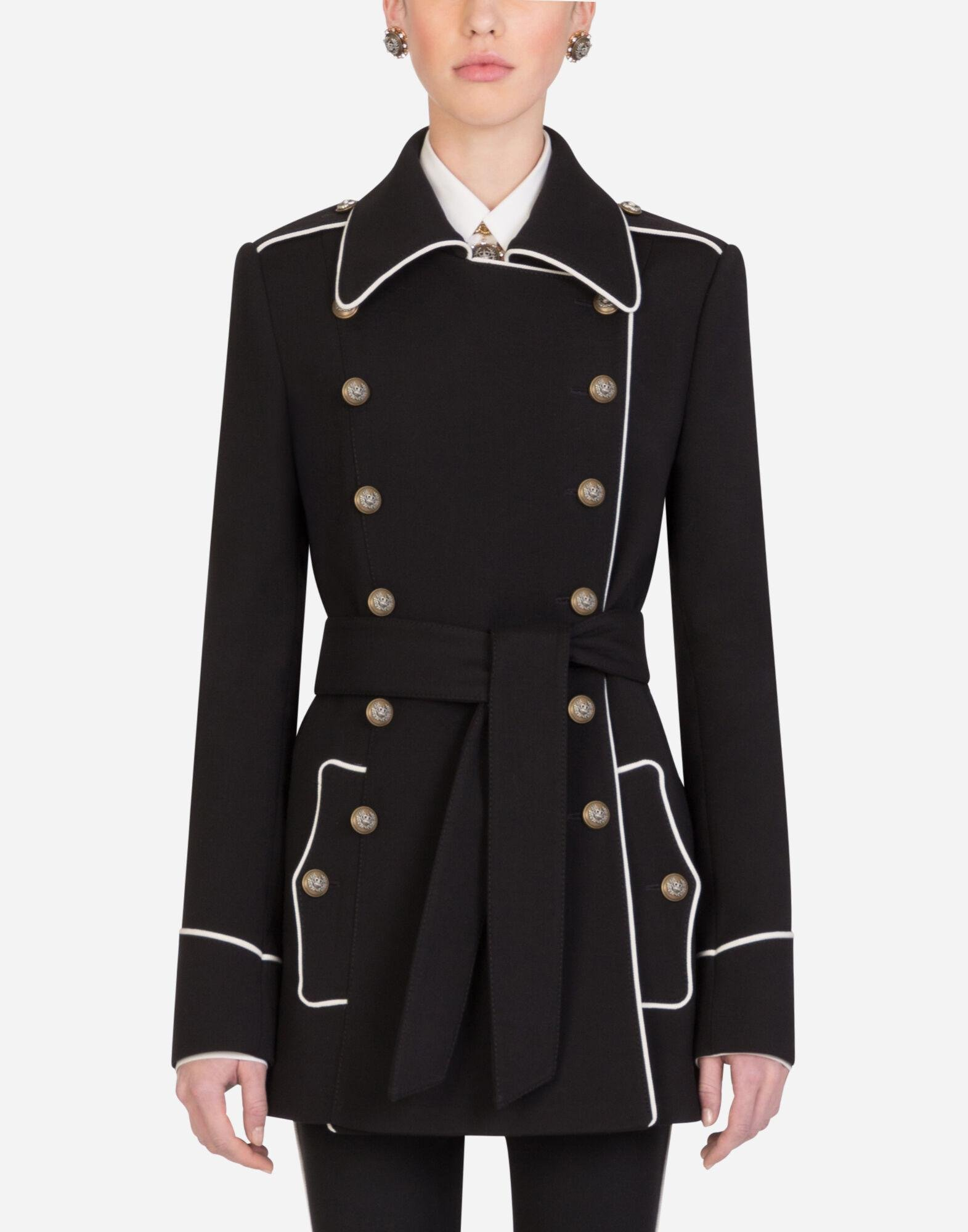 Woolen peacoat with decorative buttons