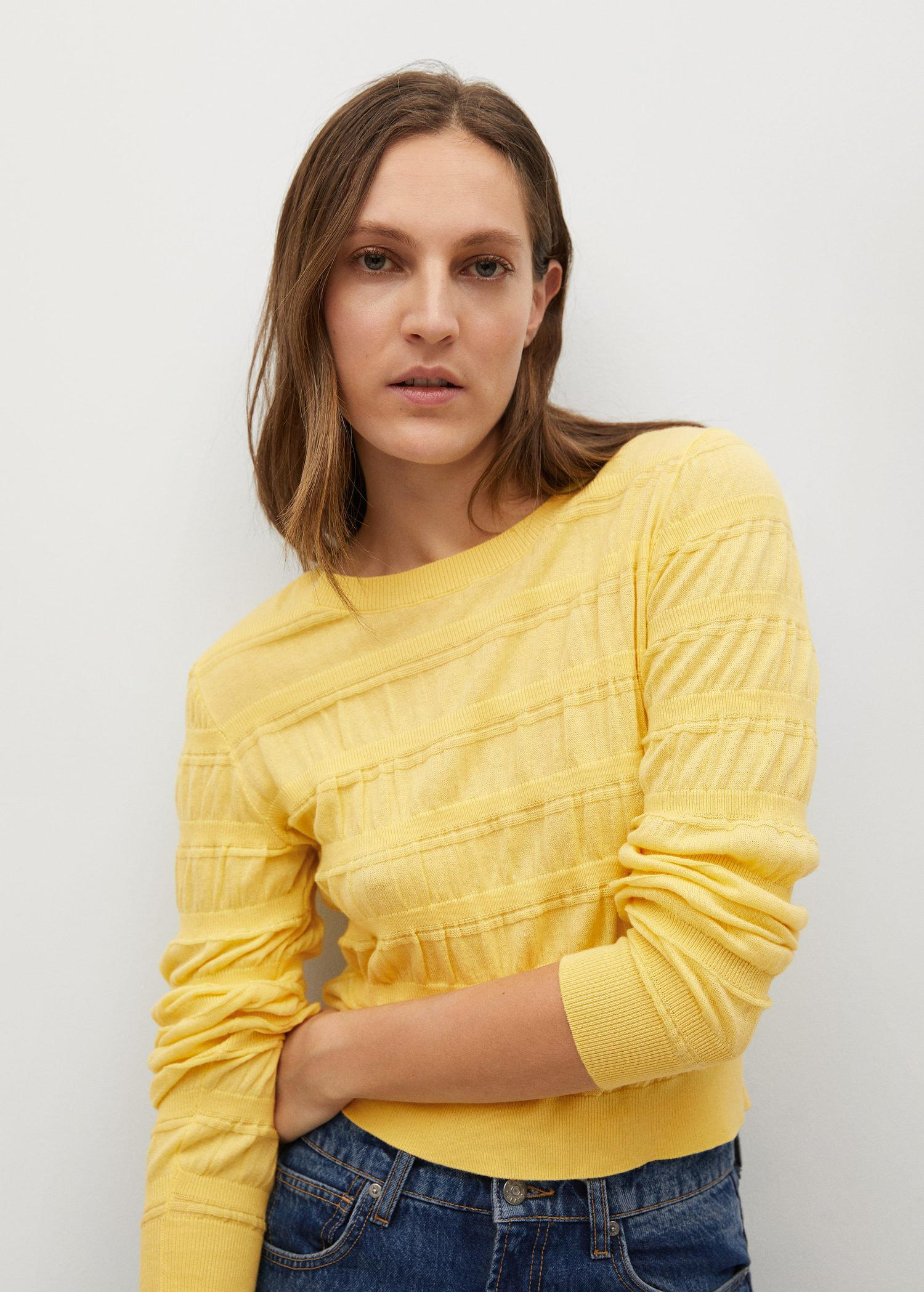 Ruched detail sweater