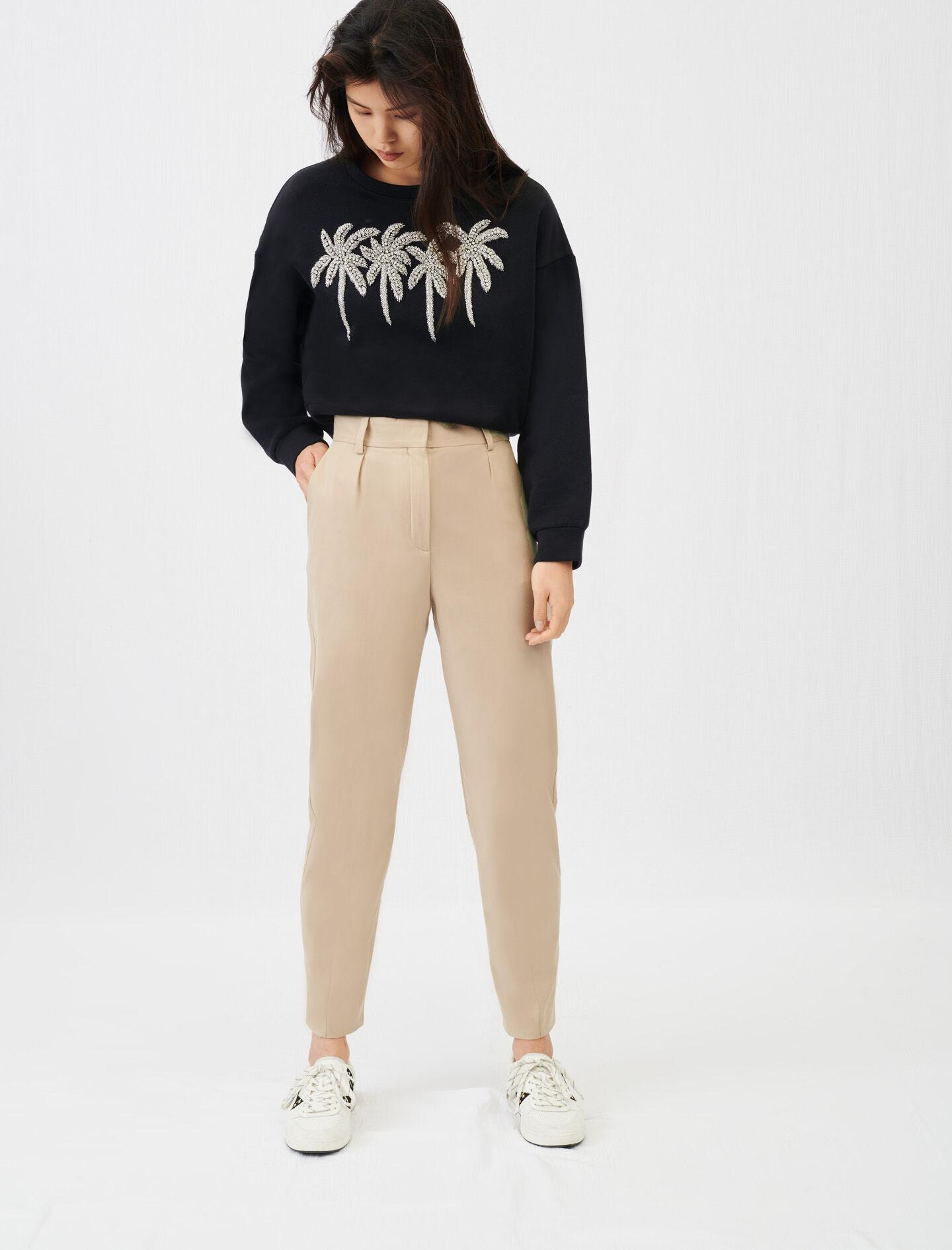 HIGH-WAISTED SUIT PANTS