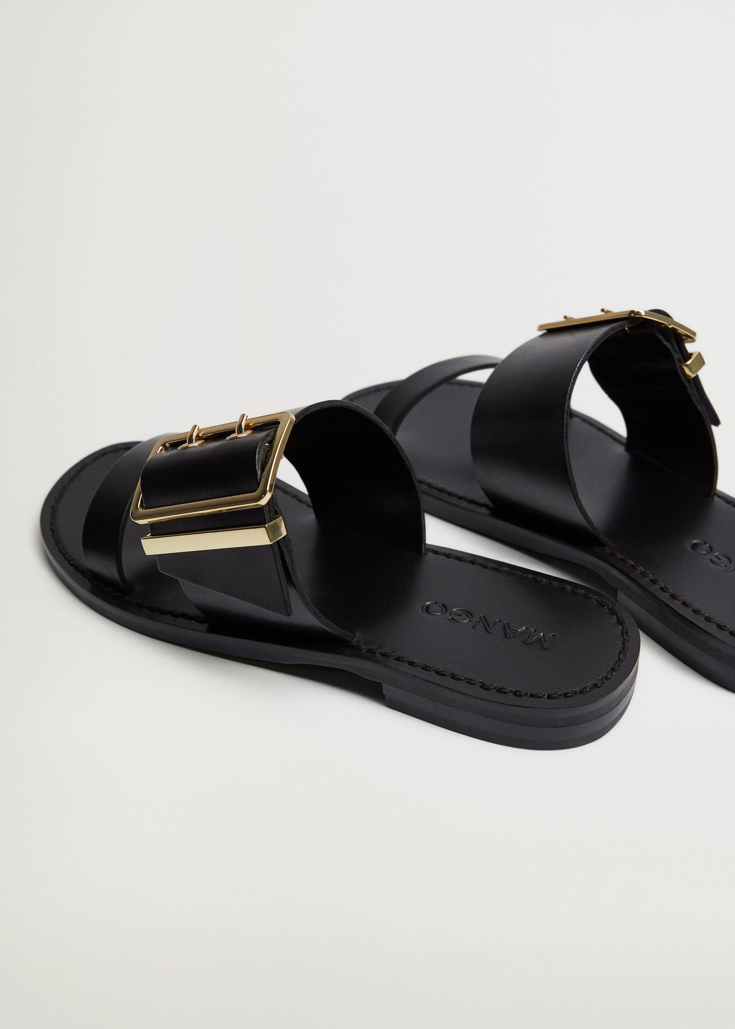 Buckle leather sandals 2