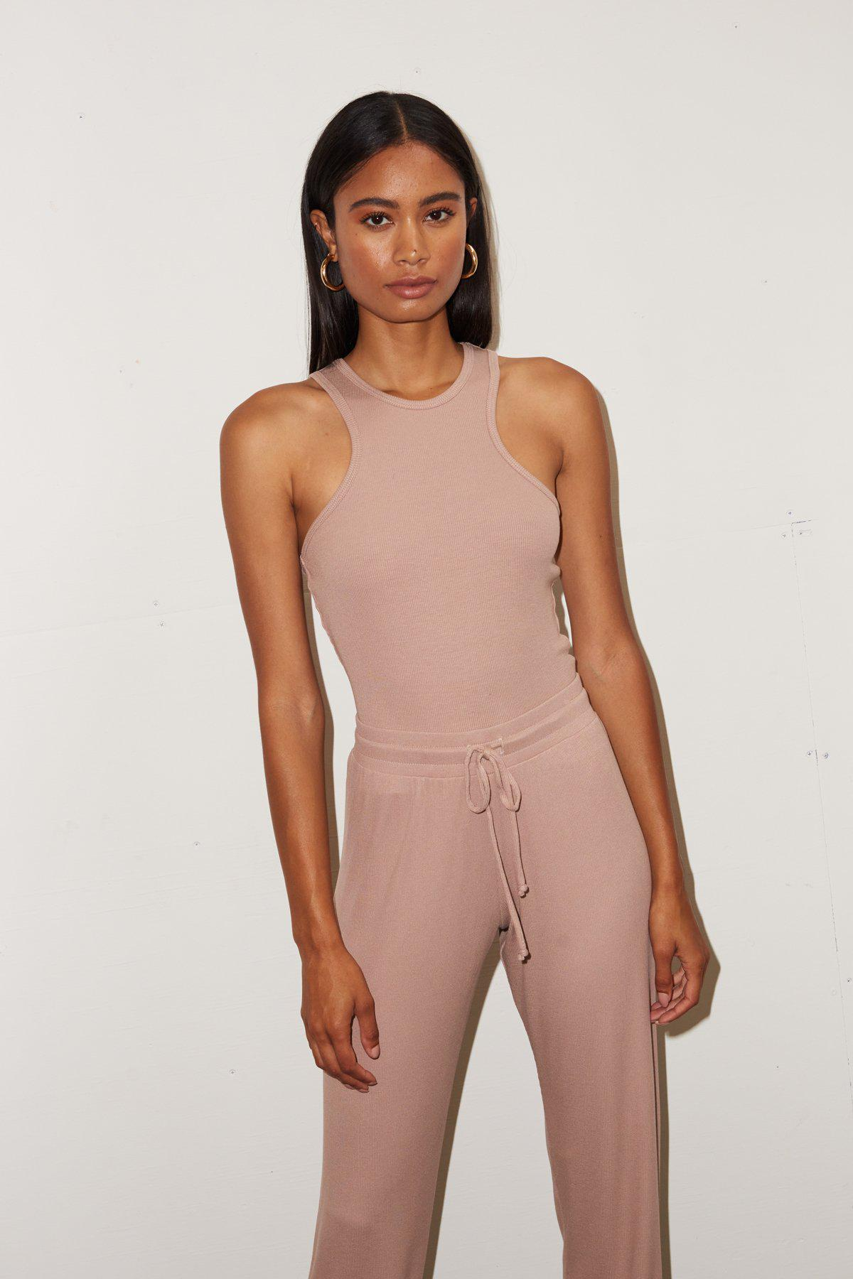 Ribbed Alissar Tank - Nude