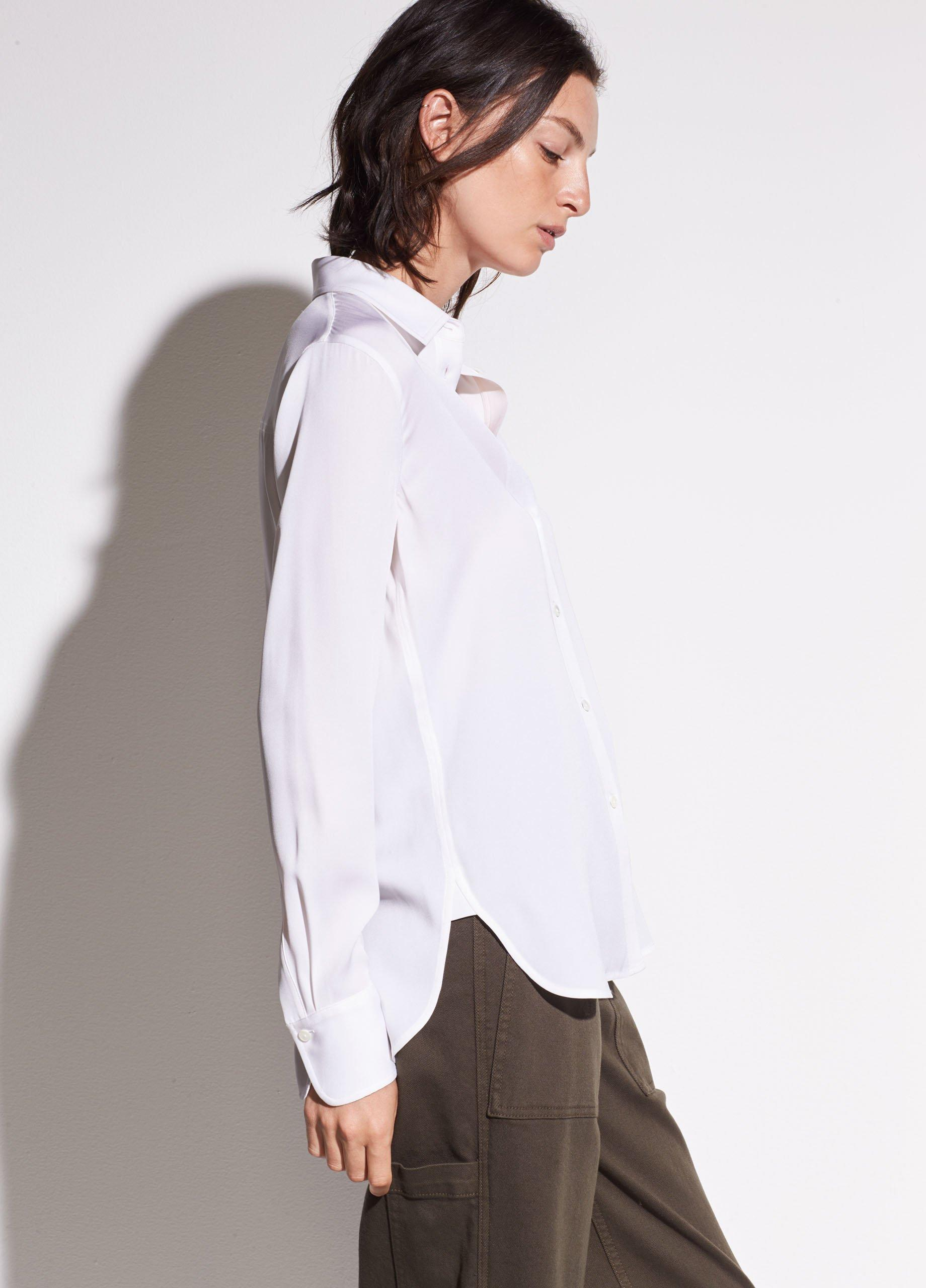 Slim Fitted Stretch-Silk Blouse 1