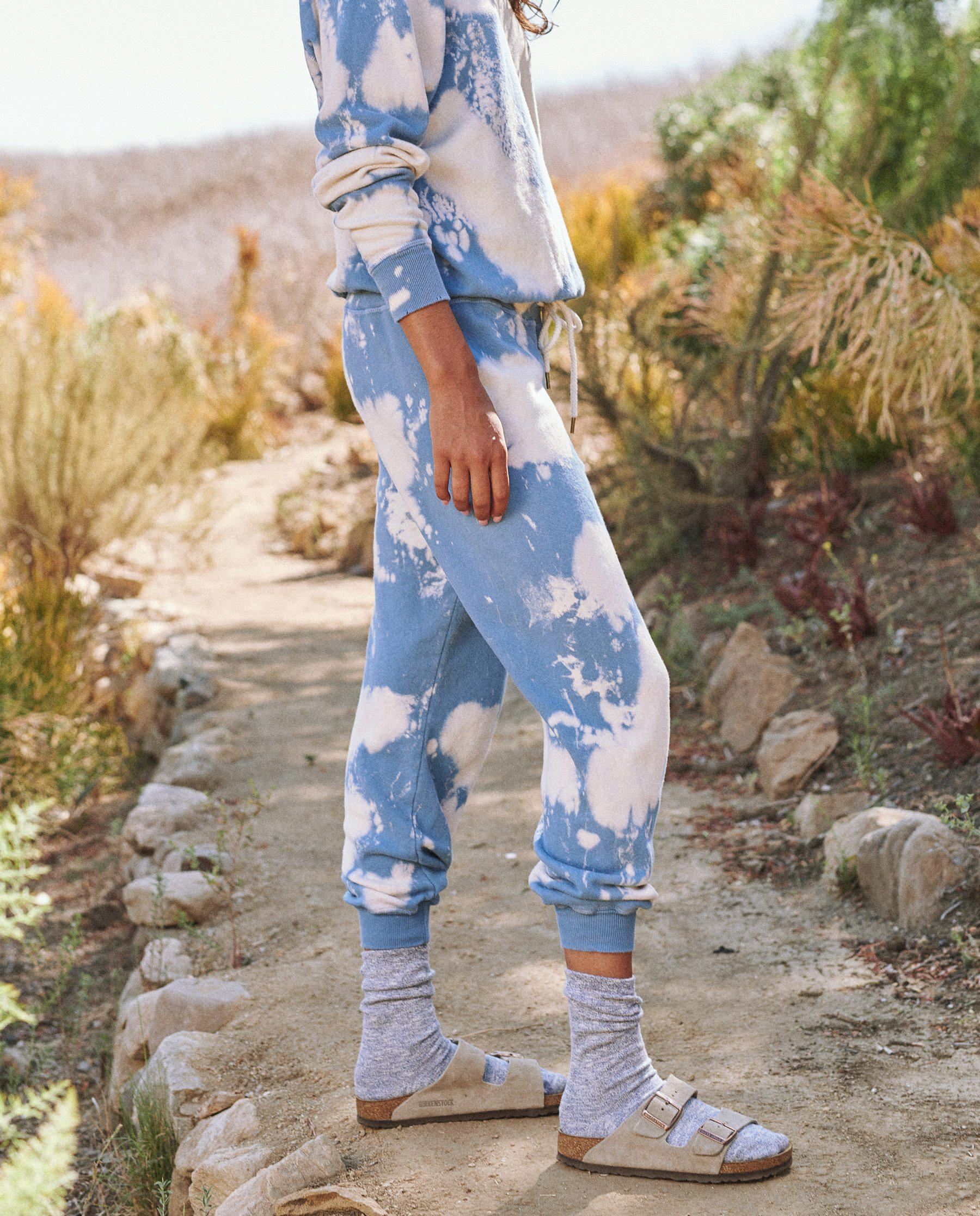 The Cropped Sweatpant. Novelty -- Cloud Wash 2