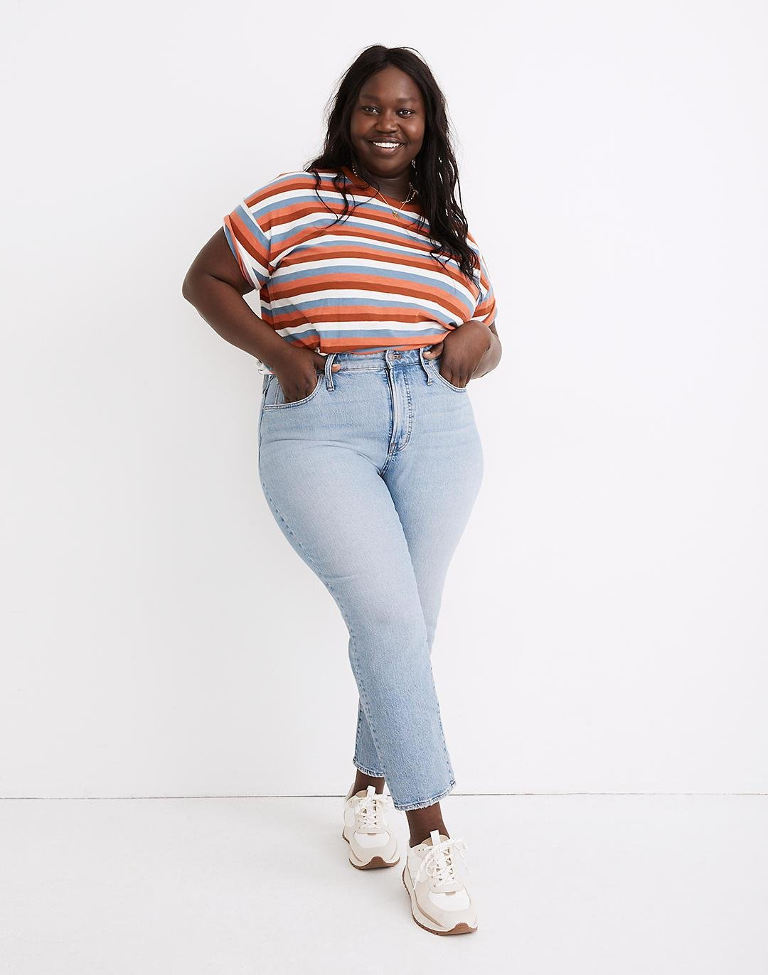 The Plus Perfect Vintage Jean in Fiore Wash
