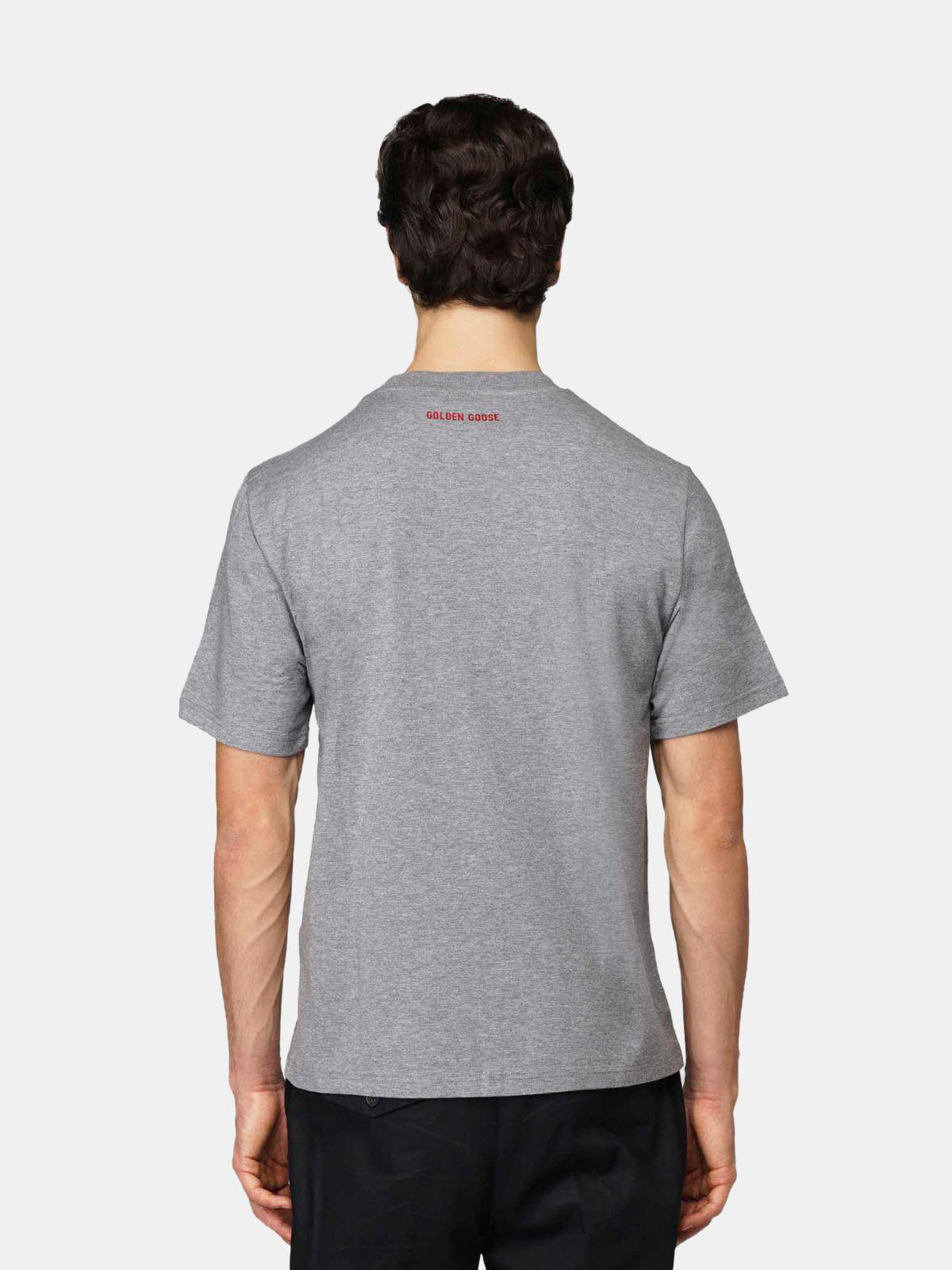 Grey Golden T-shirt with Love embroidery 3