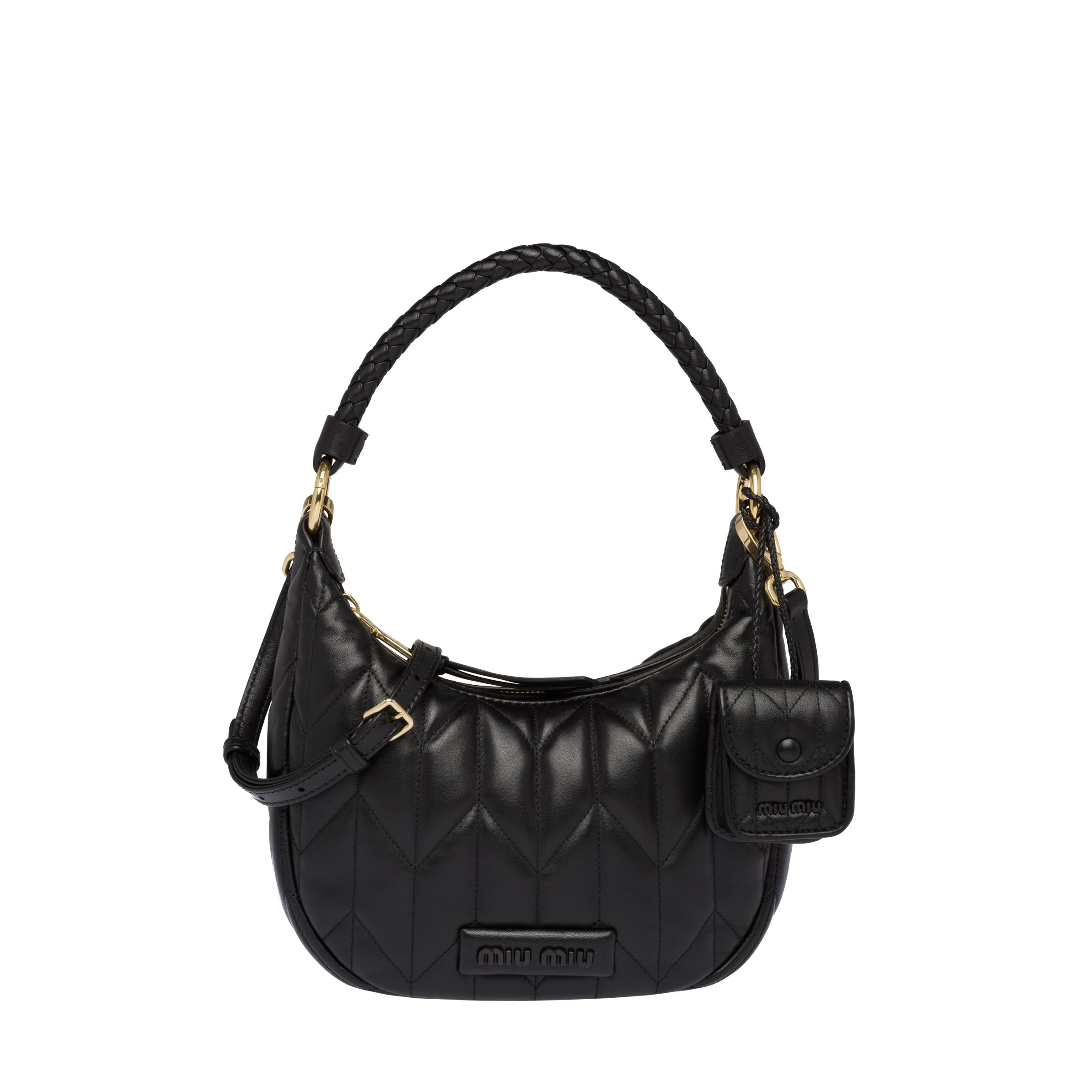 Quilted Nappa Leather Handbag Women Black