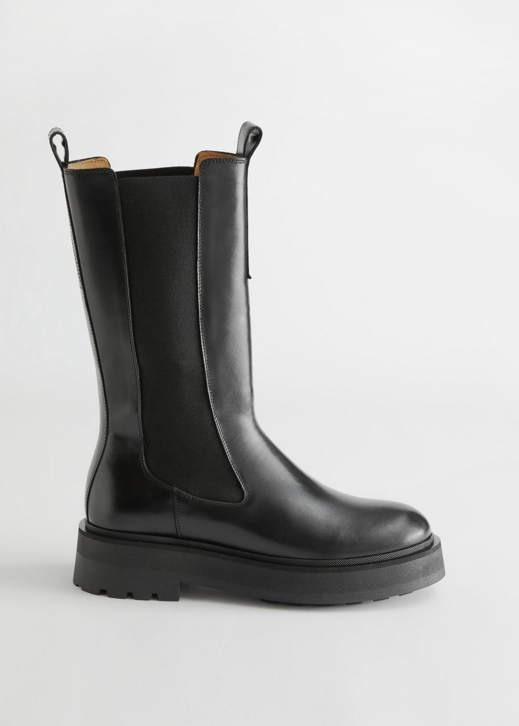 Tall Leather Chelsea Boots