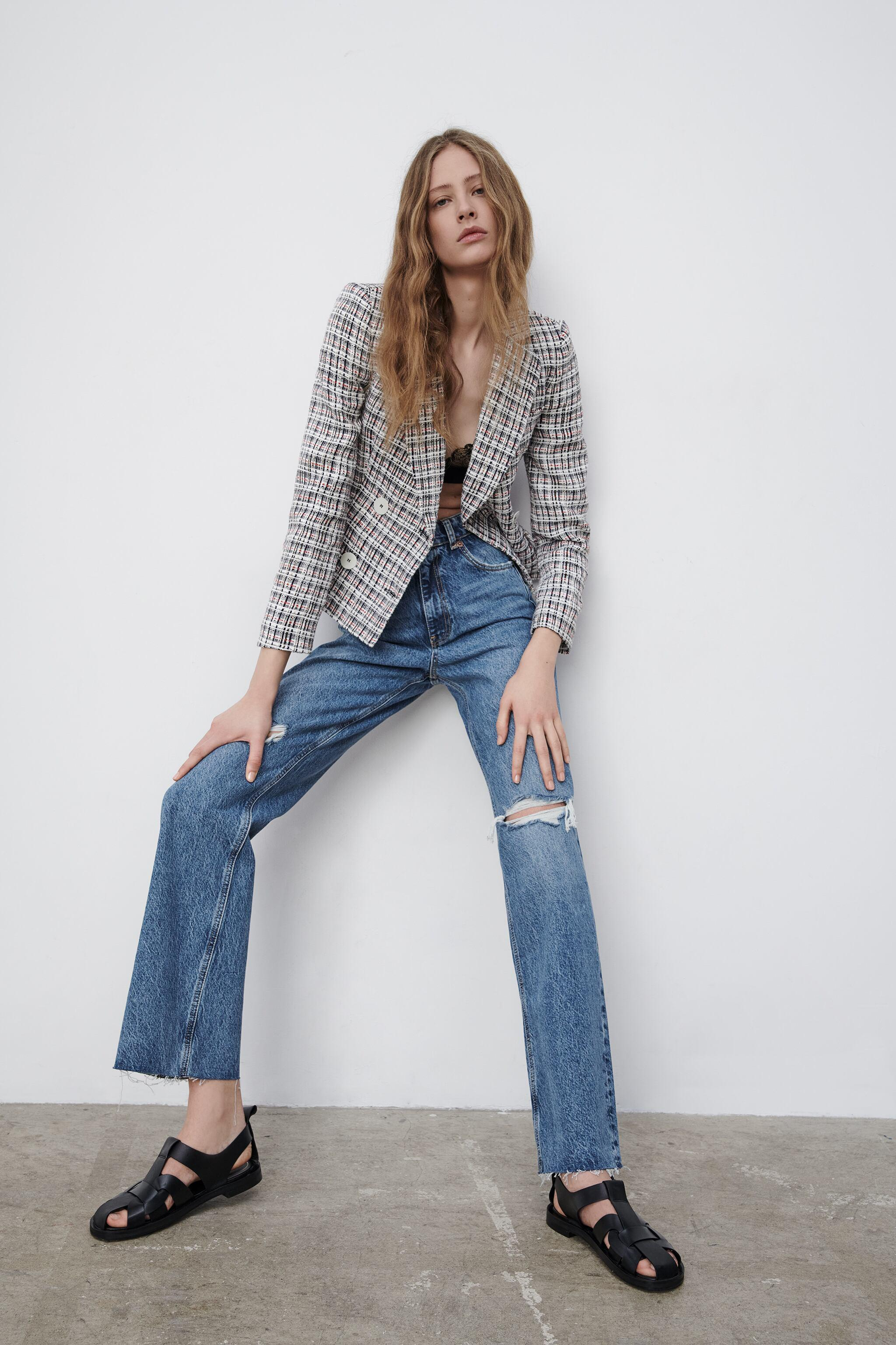 DOUBLE BREASTED TEXTURED WEAVE JACKET 5