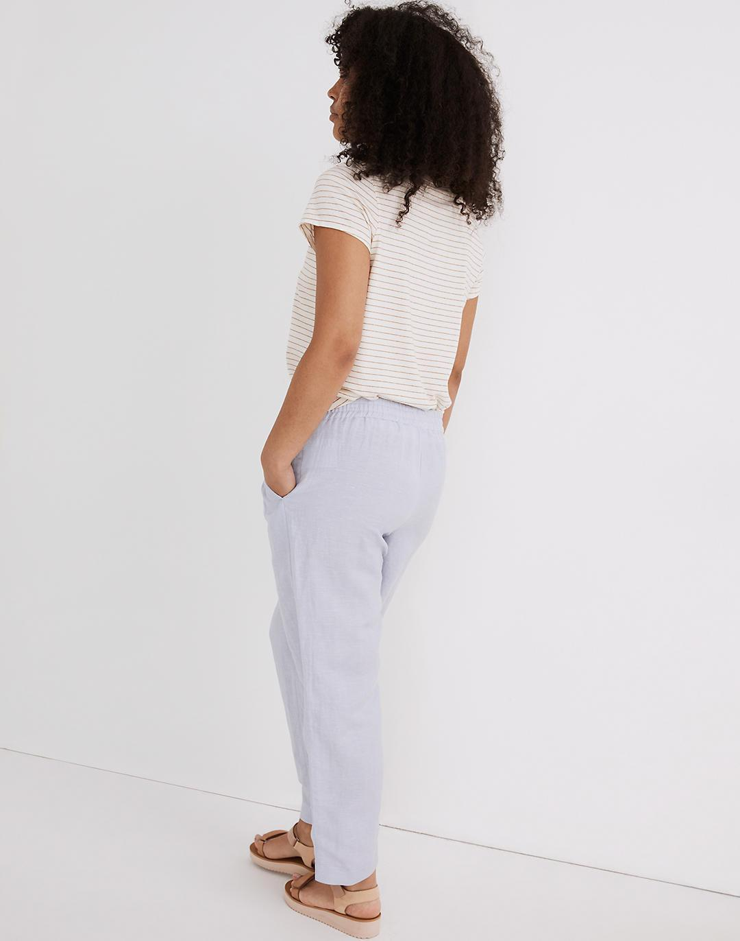 Linen-Blend Track Trousers 1