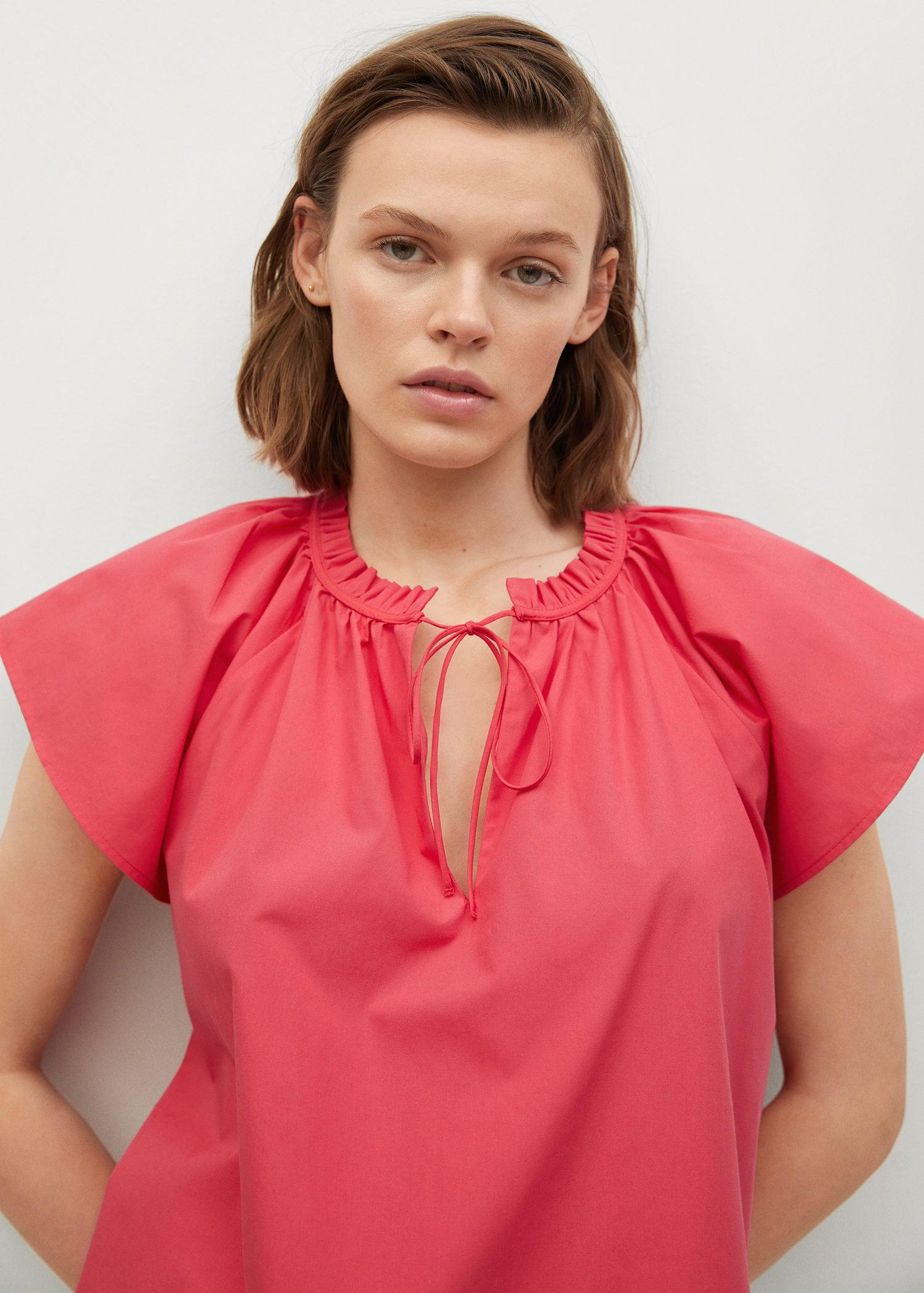 Ruched neck blouse 4
