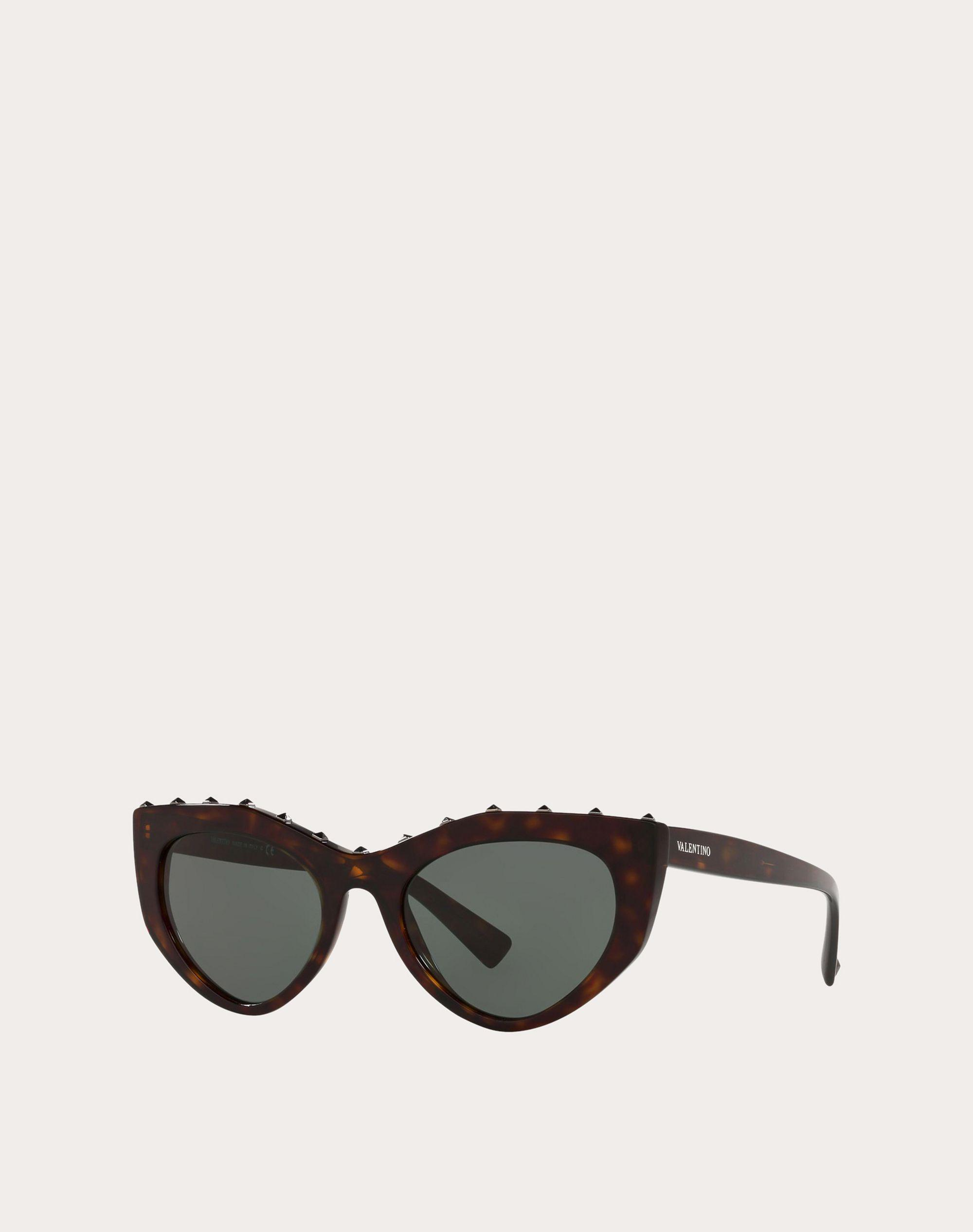 CAT-EYE ACETATE SUNGLASSES WITH STUDS 1