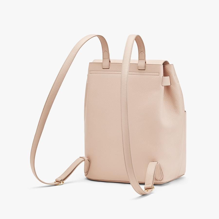 Women's Leather Backpack in Blush Pink | Pebbled Leather by Cuyana 1