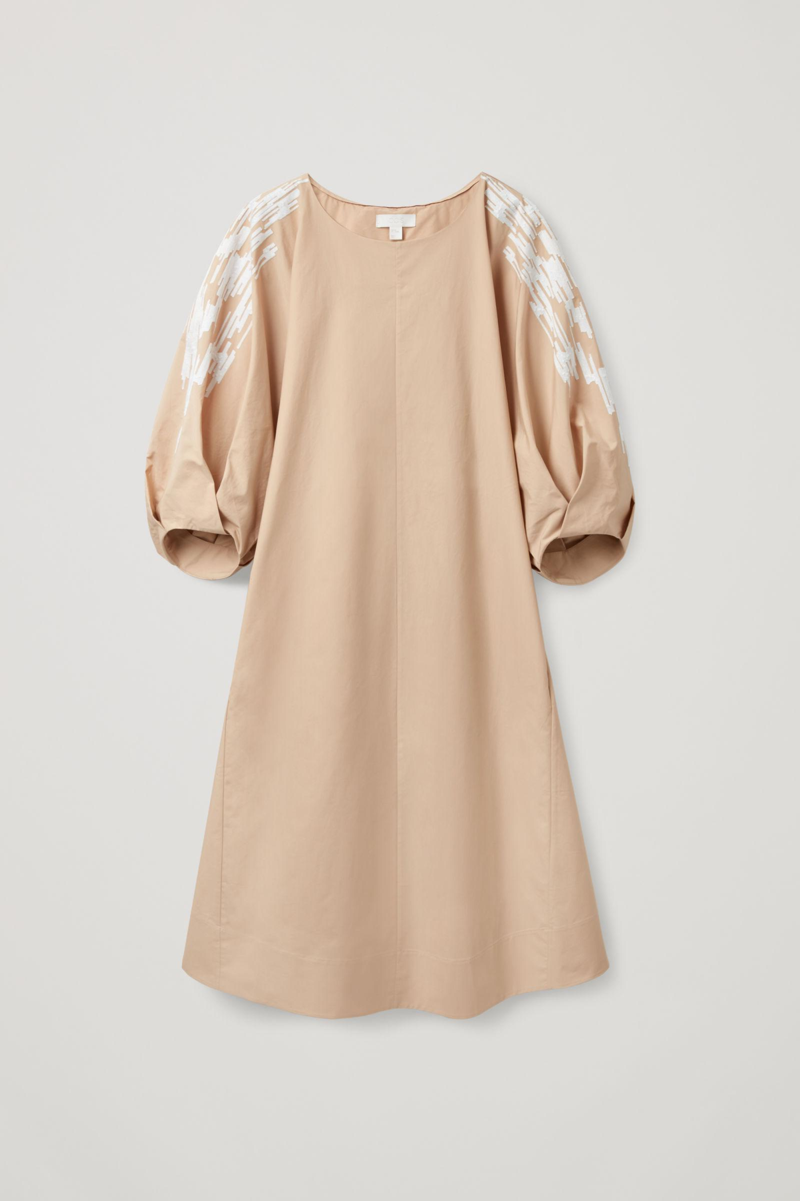 EMBROIDERED PUFF SLEEVE DRESS 5