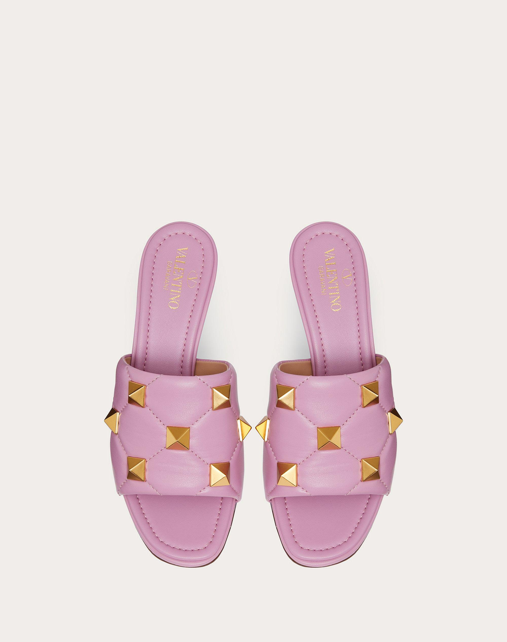 ROMAN STUD SLIDE SANDAL IN QUILTED NAPPA 65 MM 3