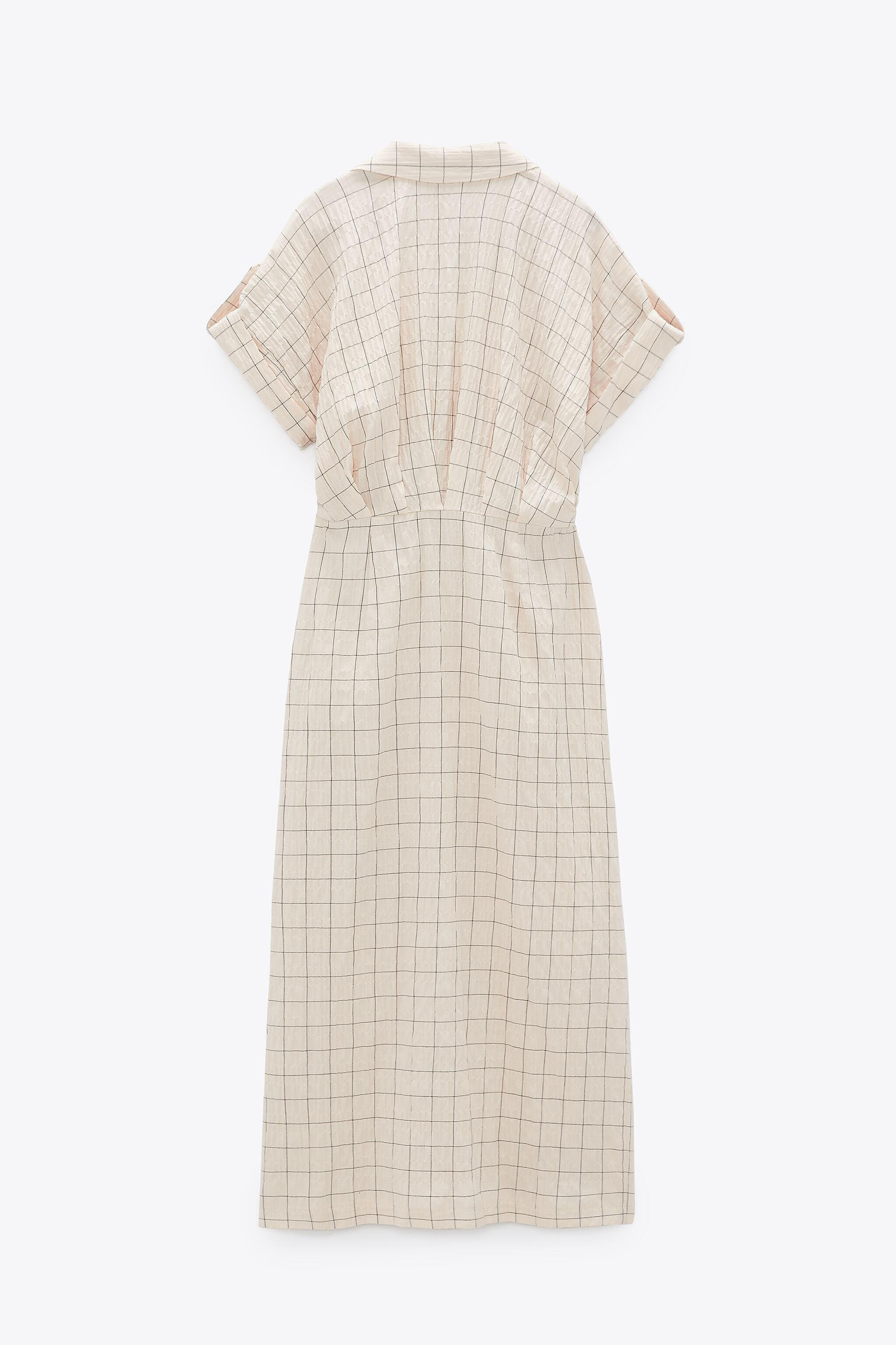 CHECKERED KNOTTED DRESS 2