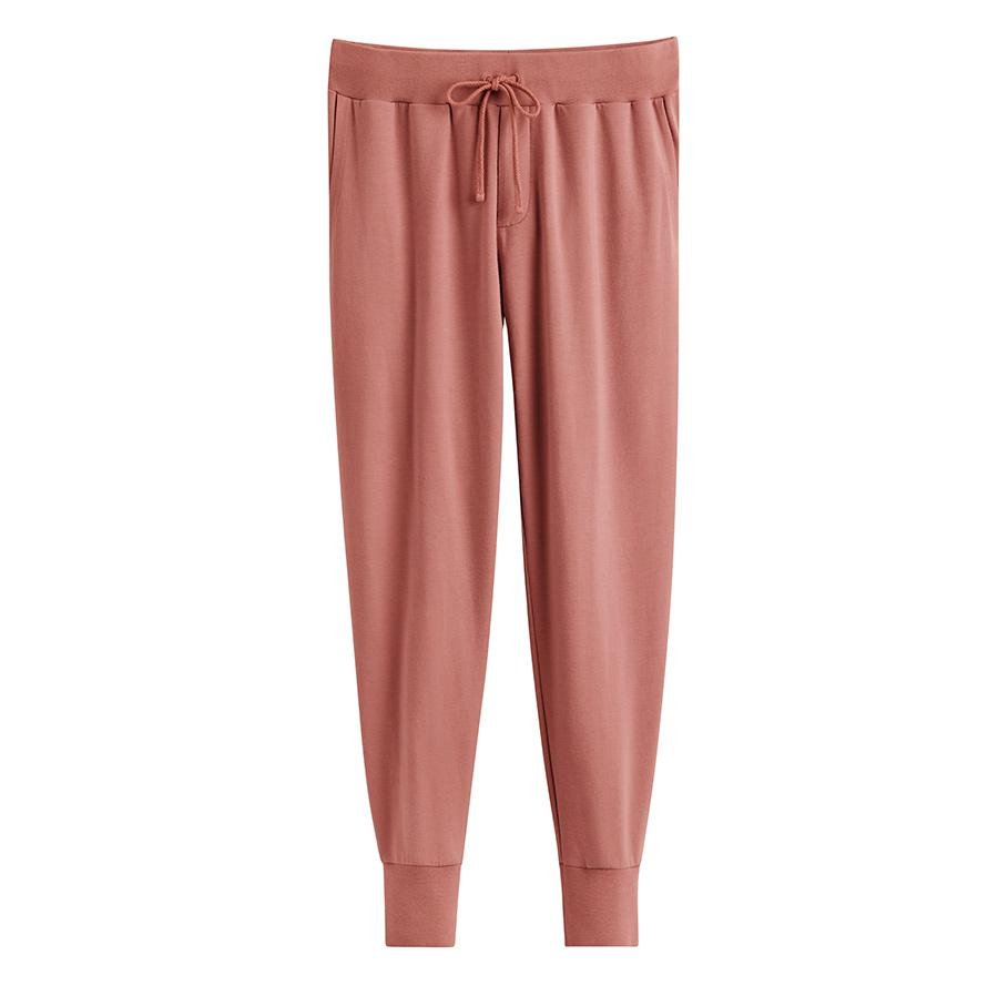 Women's French Terry Tapered Lounge Pant in Passion Fruit | Size: