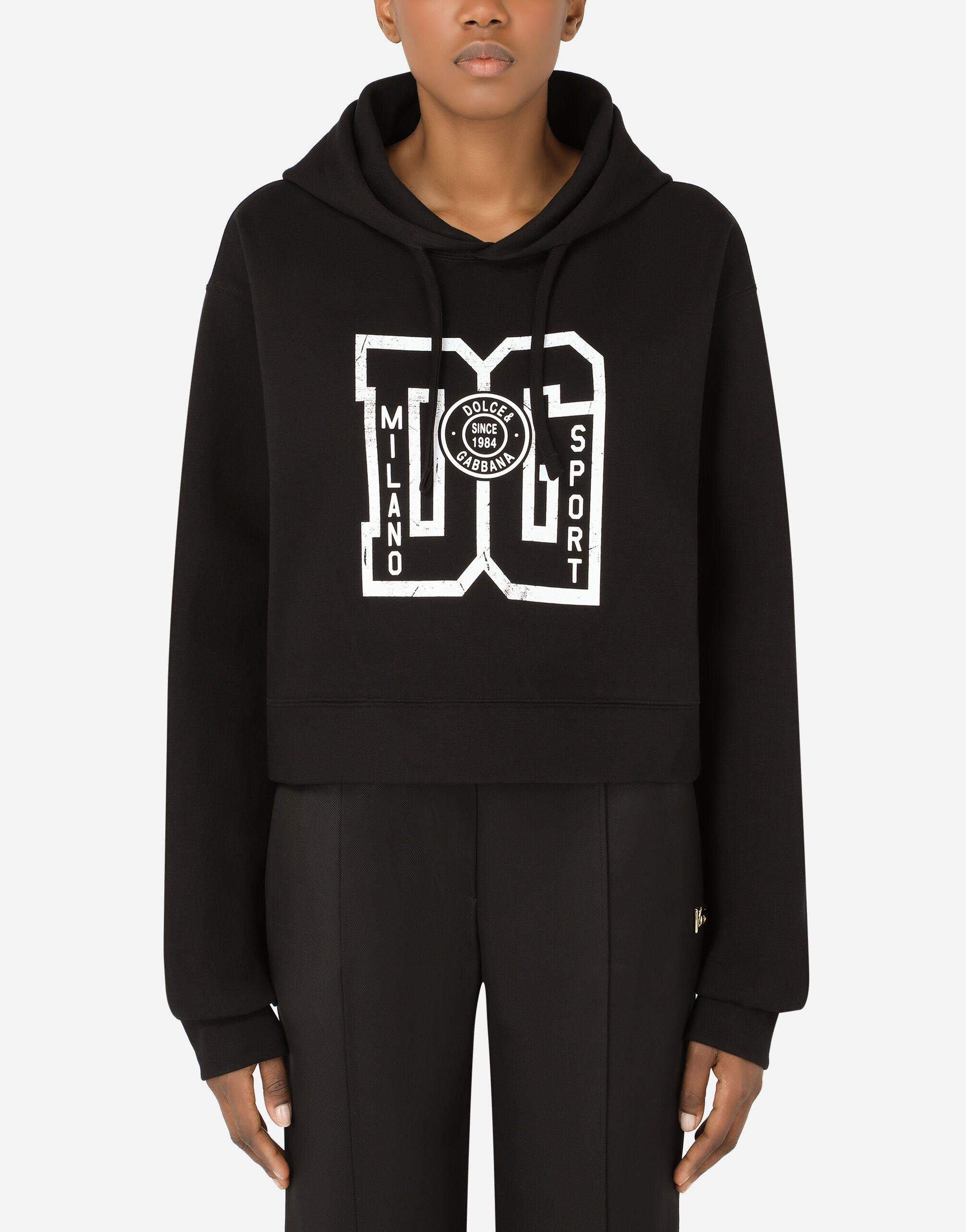 Jersey hoodie with DG print