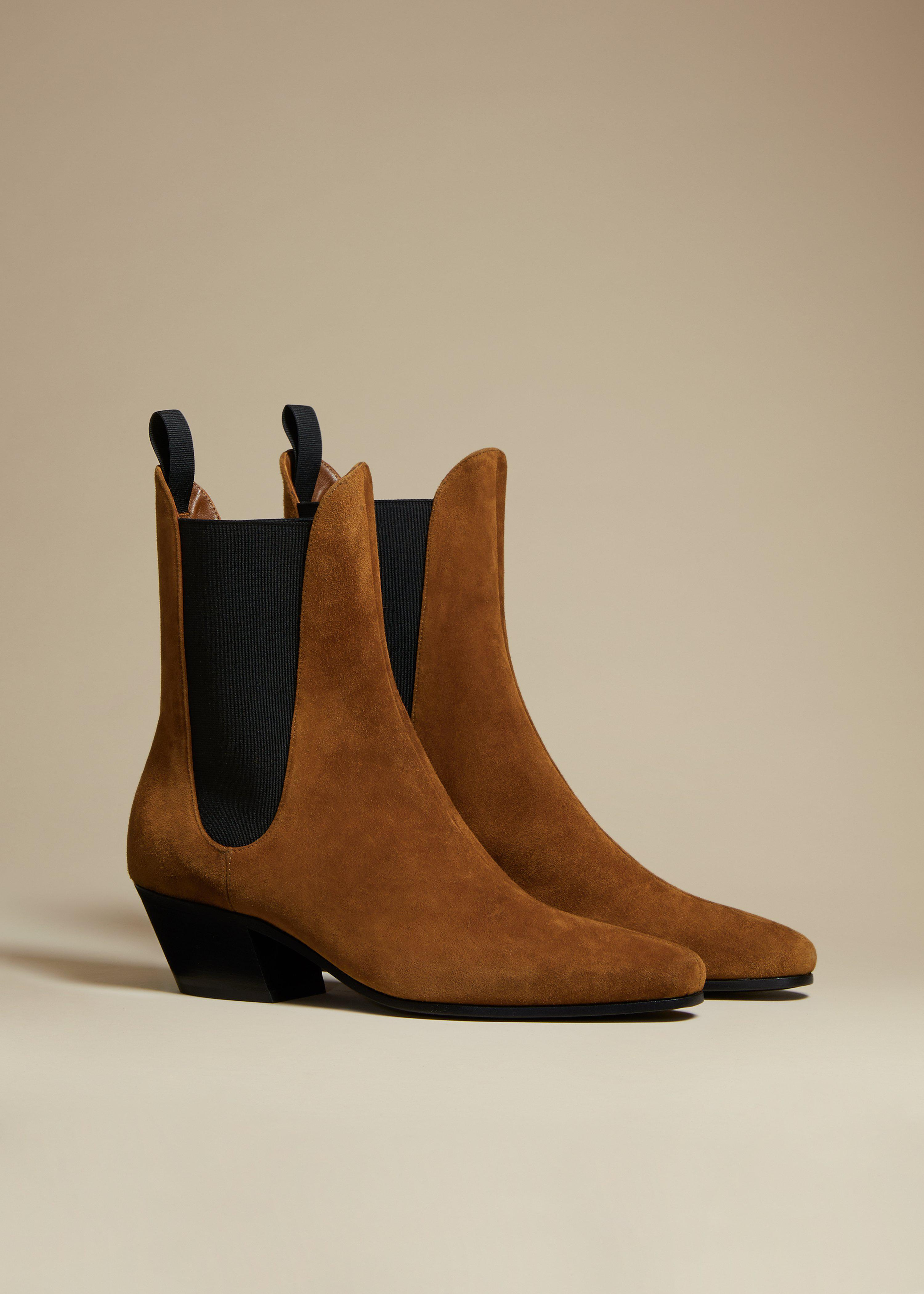 The Saratoga Boot in Caramel Suede 1