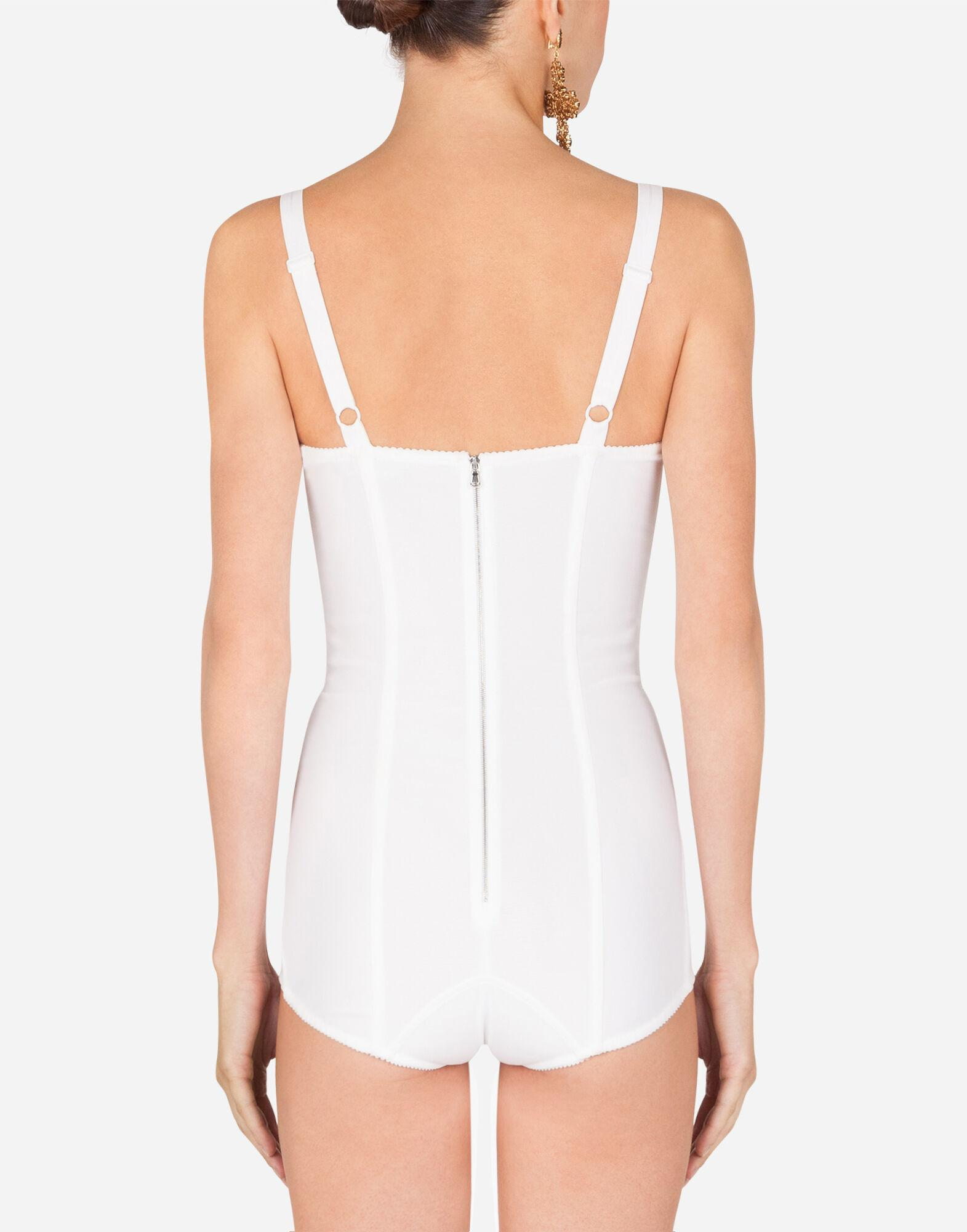 Shaper corset bodysuit in lace and jacquard 1