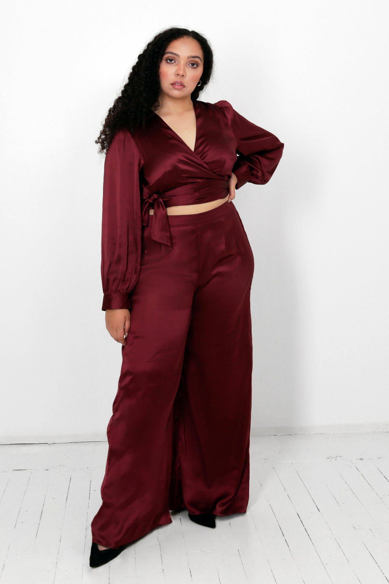 Rooibos Isa Wrap Top and Dora Pants Two Piece Set 1