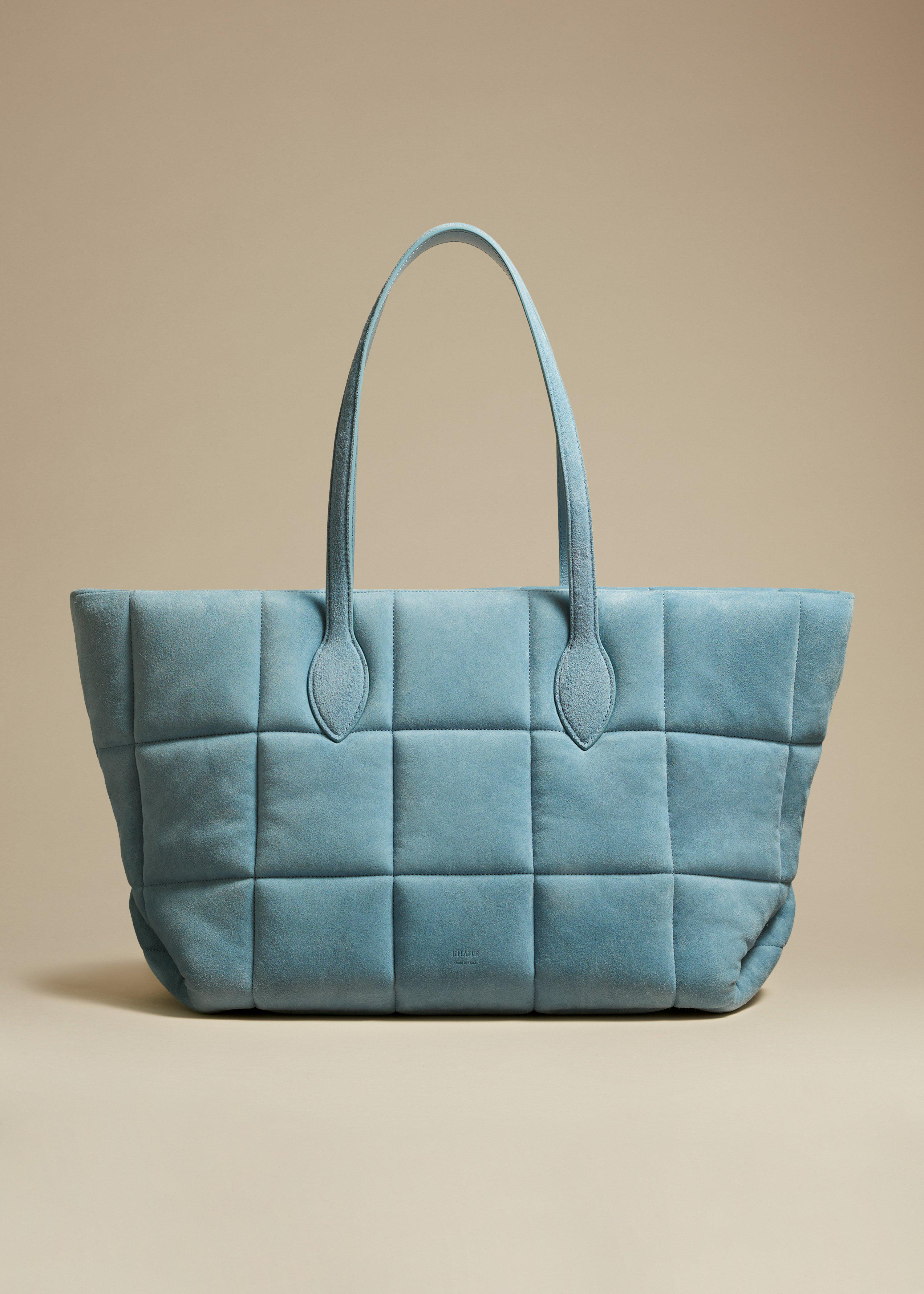 The Florence Quilted Tote in Atmosphere Suede