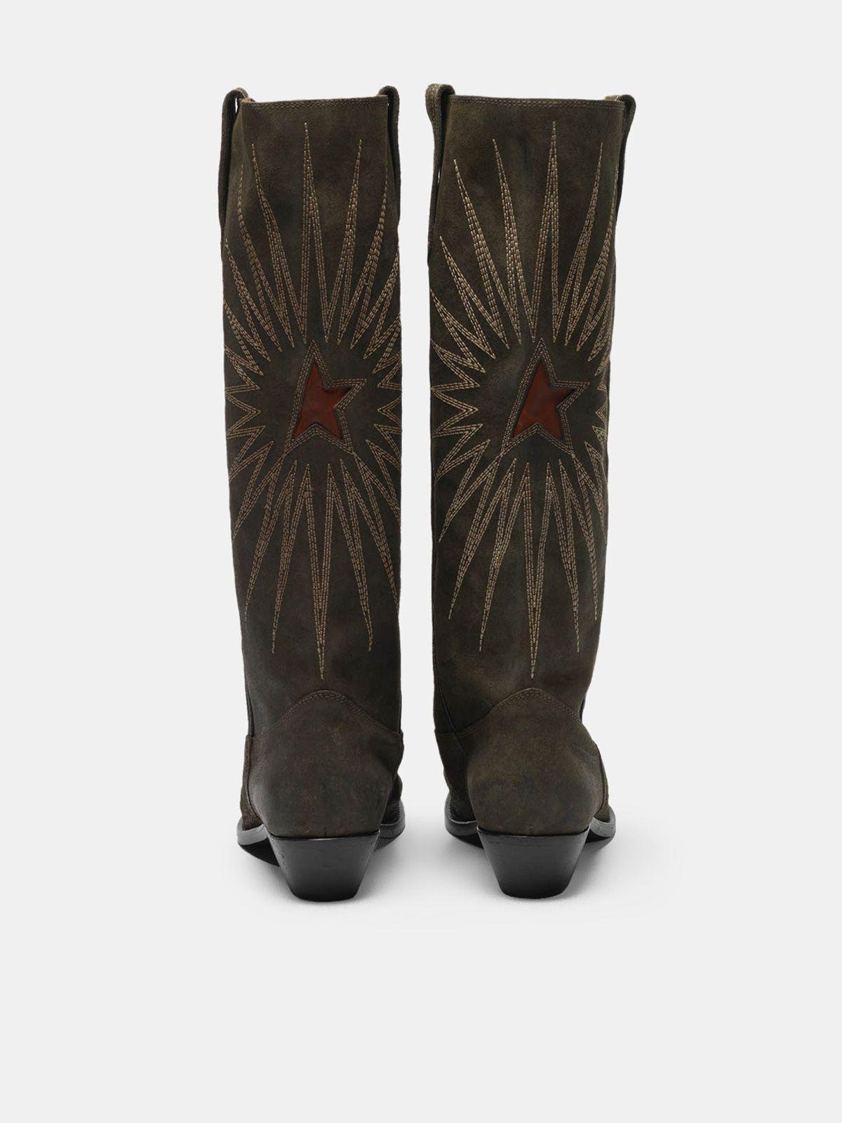 Wish Star boots in leather with Western decoration 1